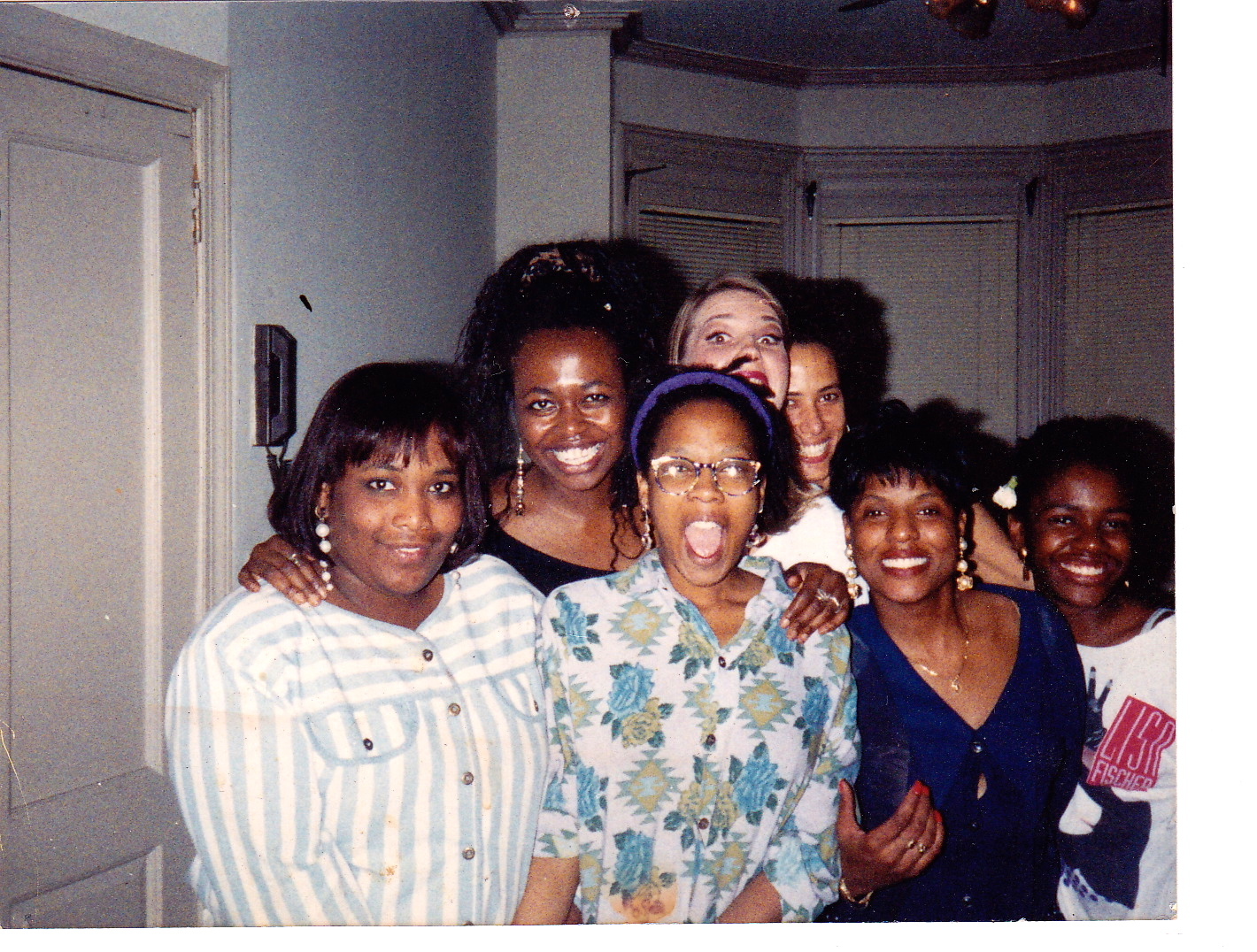 Photo taken circa 1990: (Sister) Stephanie, Leslie in crazy Navajo sweater (?), (Leslie's sister) Lisa, Nathalie, Marjorie and Donna... on the end, who died of cancer in January. Miss her. Turning 50 has taken on a whole new meaning for me...  My apartment on Girard Avenue near the Art Museum.