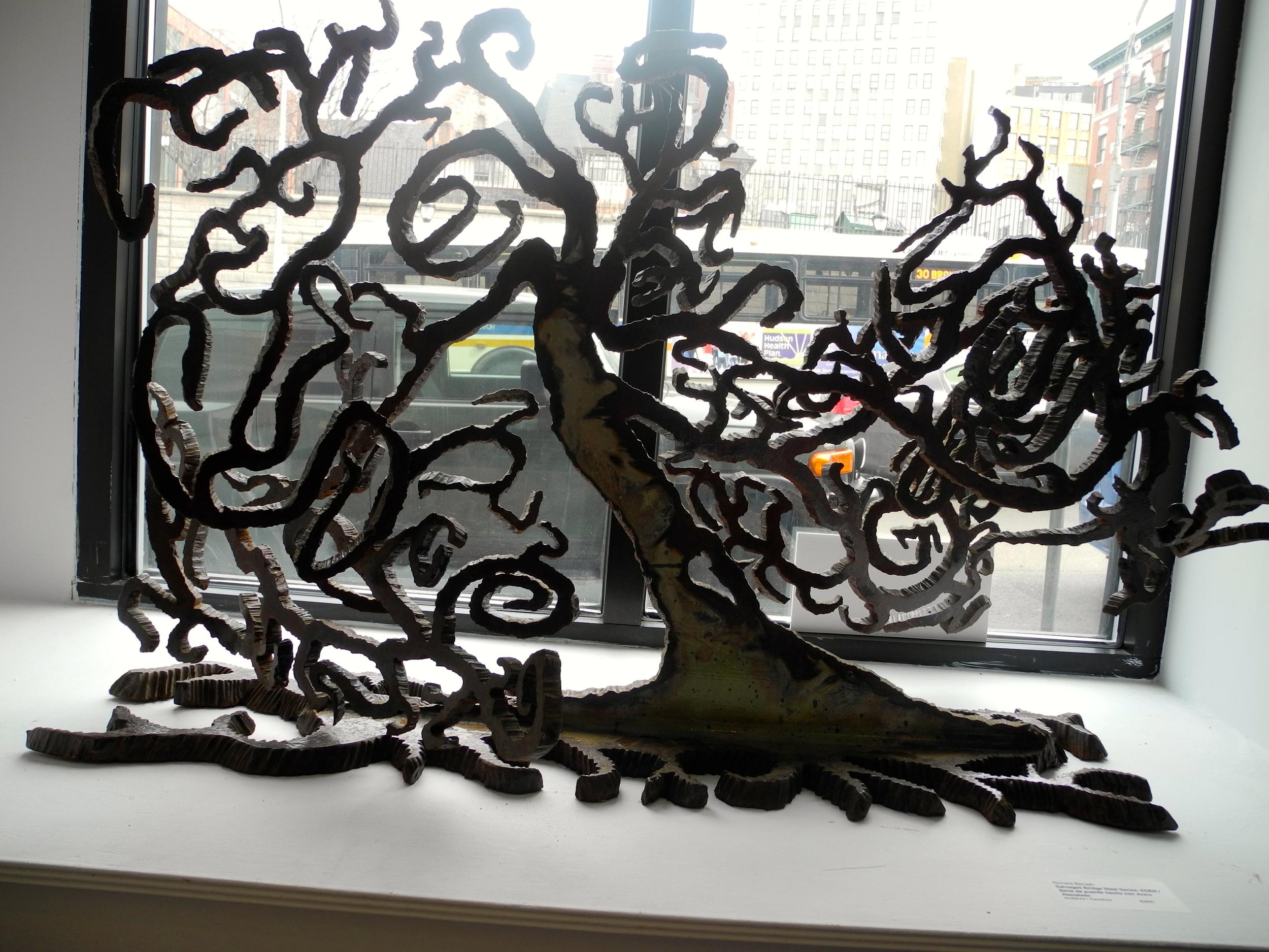 """Eden"" Salvaged Bridge I-Beam Sculpture by Richard Benash, 47""W x 20""D x 36""H. 2014. Blue Door Gallery Yonkers, NY."