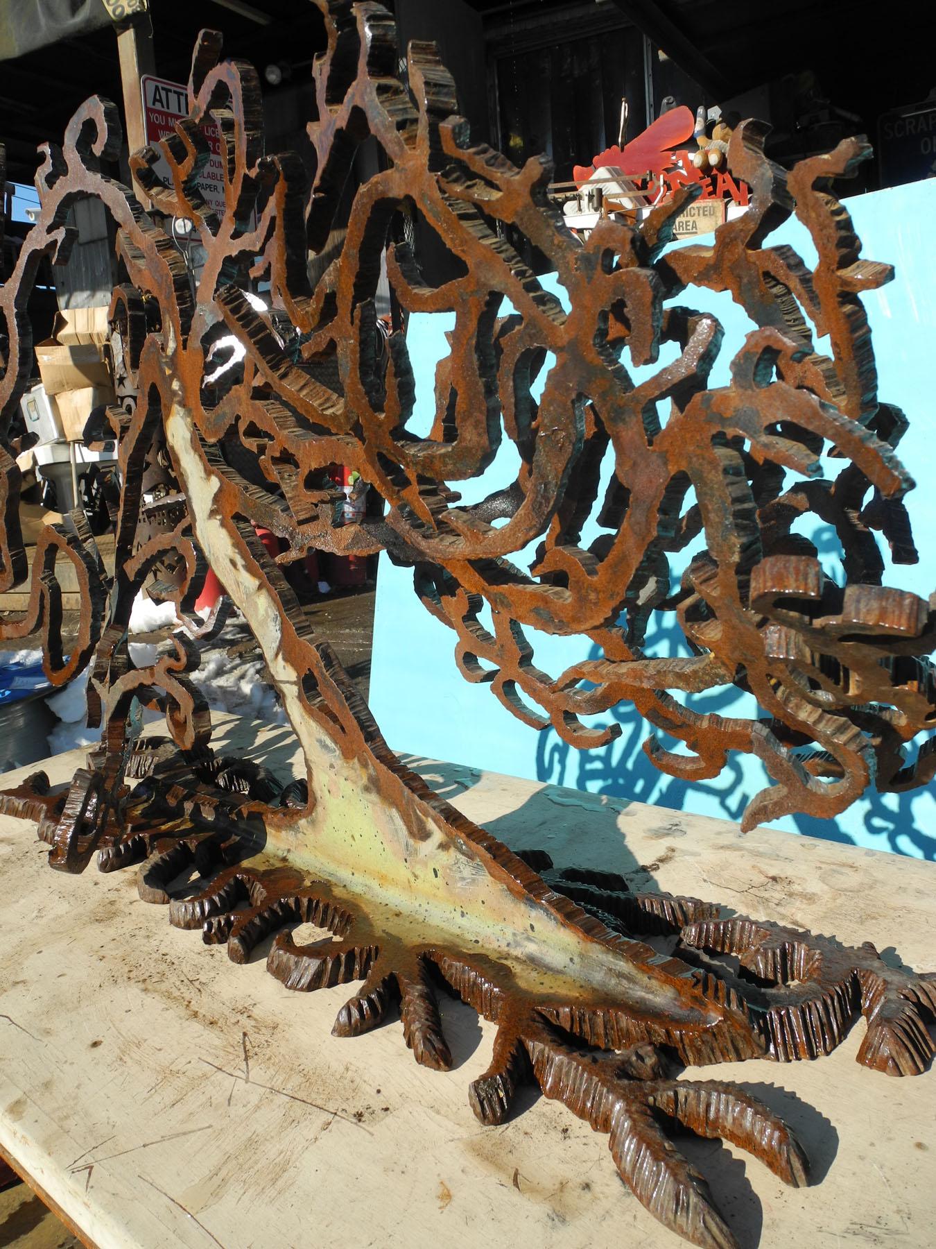 """""""Eden"""" Salvaged Bridge I-Beam Sculpture by Richard Benash"""
