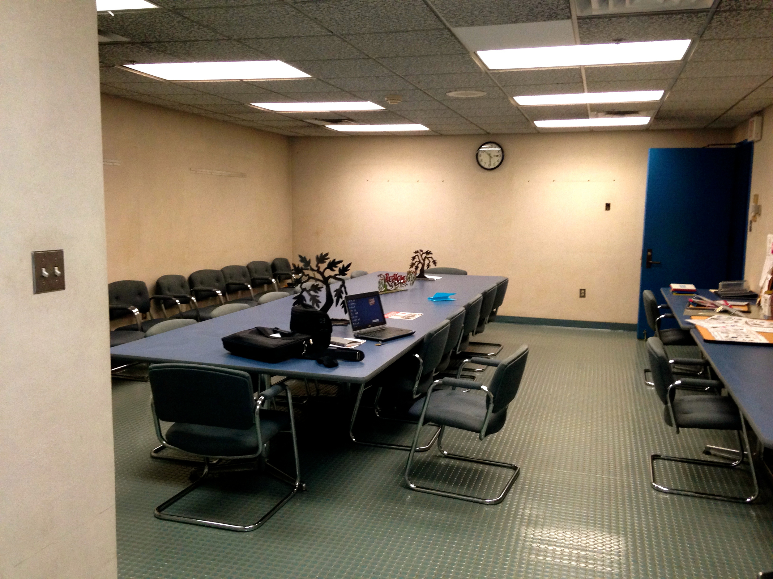the Westchester Materials Recovery Facility (MRF) conference room BEFORE.