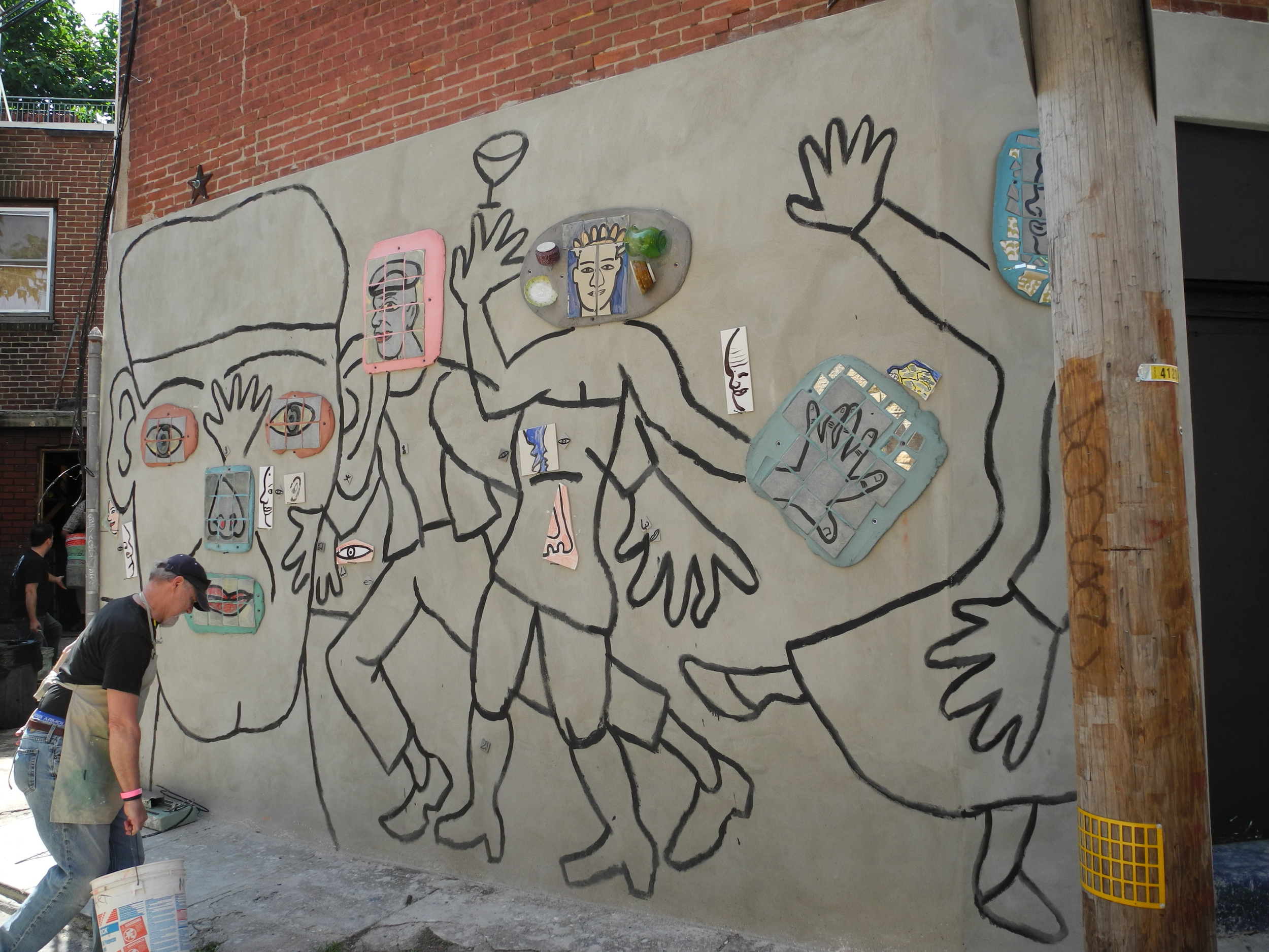 Isaiah Zagar Mosaic Mural Workshop