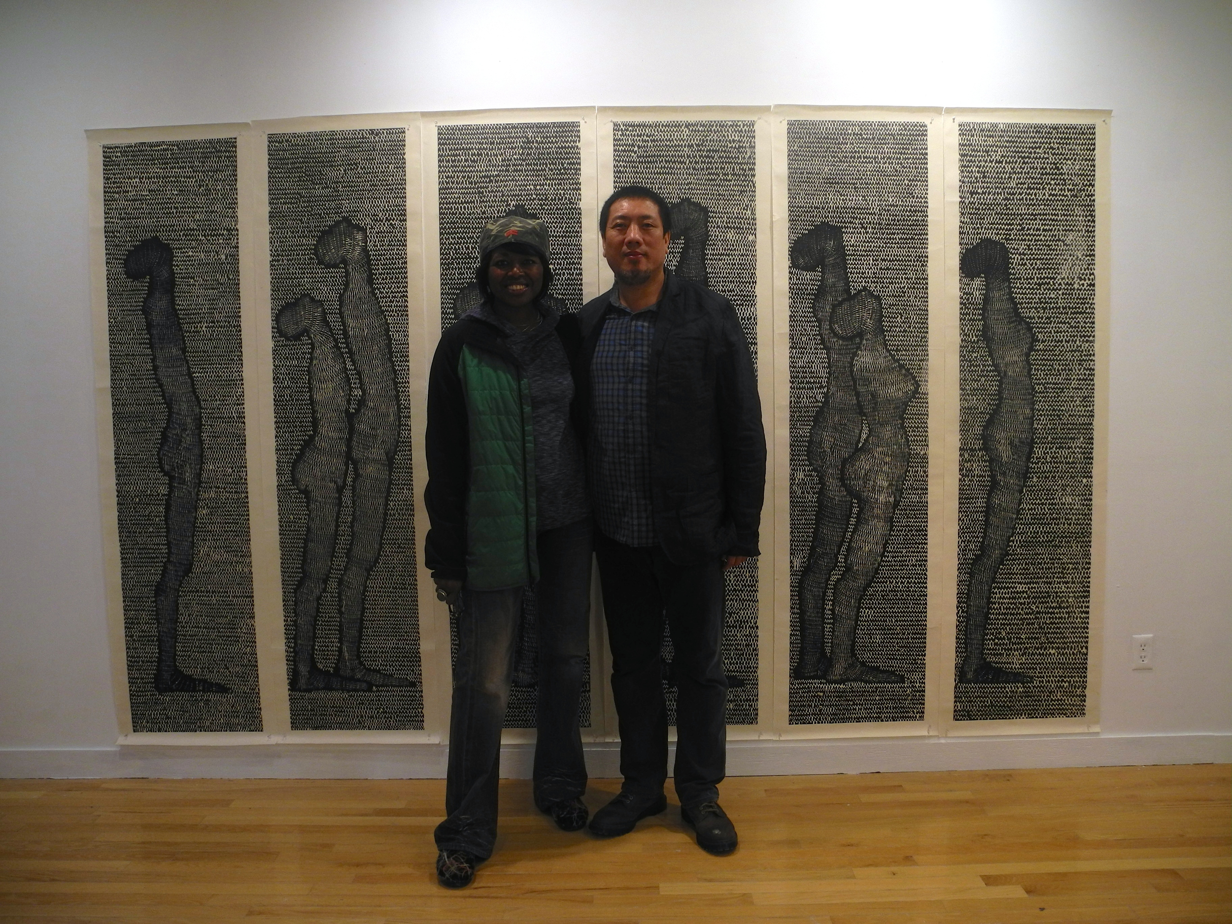 I was blown away by Luo Xiangke's wood block prints. And so happy to be able to purchase one.