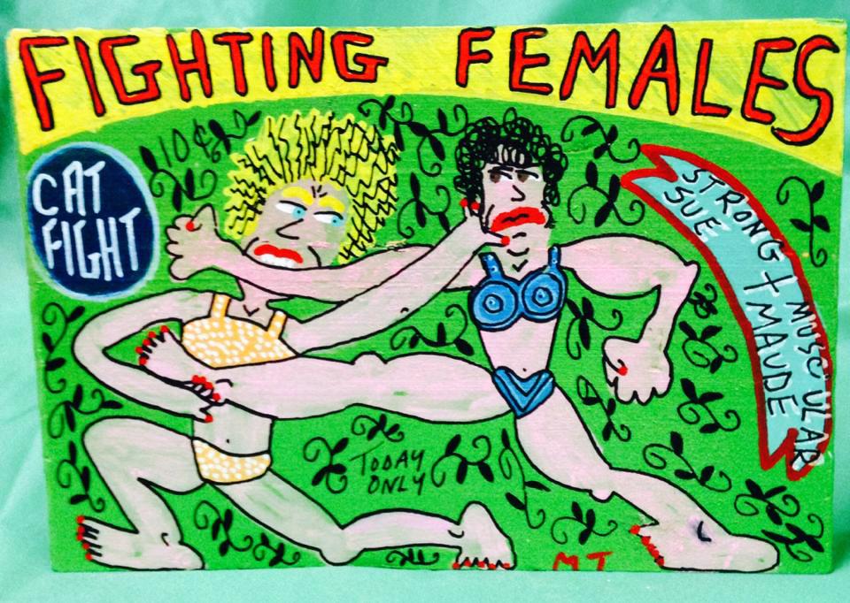 """©Miz Thang """"Wrestling Women"""" 2015"""
