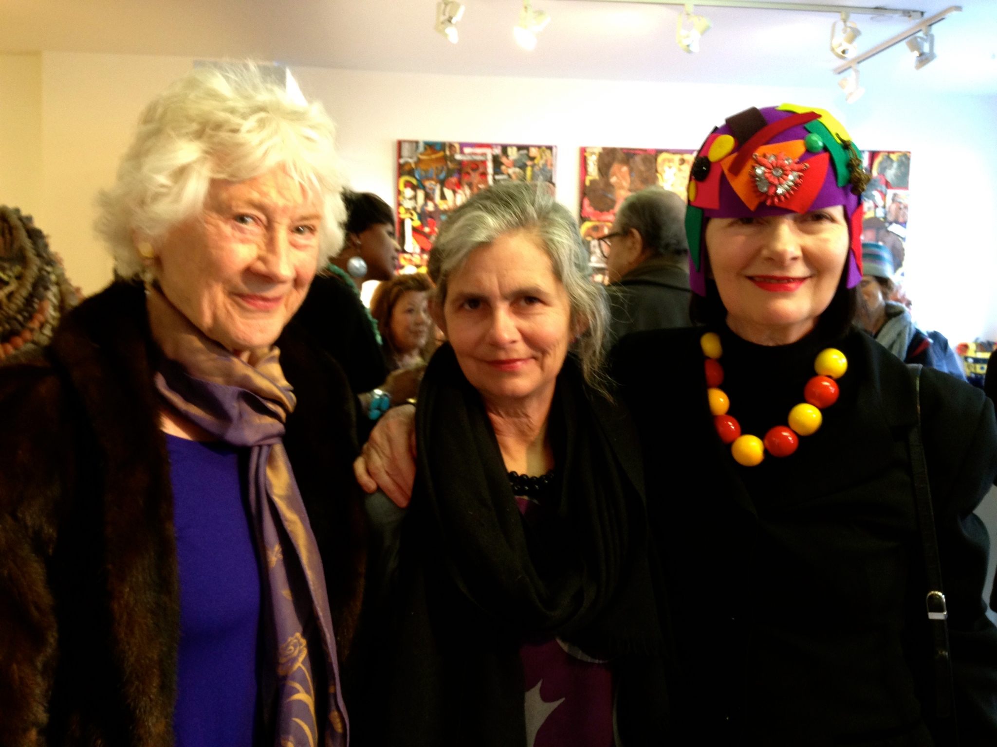 Carol Markel, Milliner, Out of Bounds: Freedom of Expression Exhibition, Curated by Shelita Birchett Benash 2015 at Blue Door Gallery, Yonkers, NY