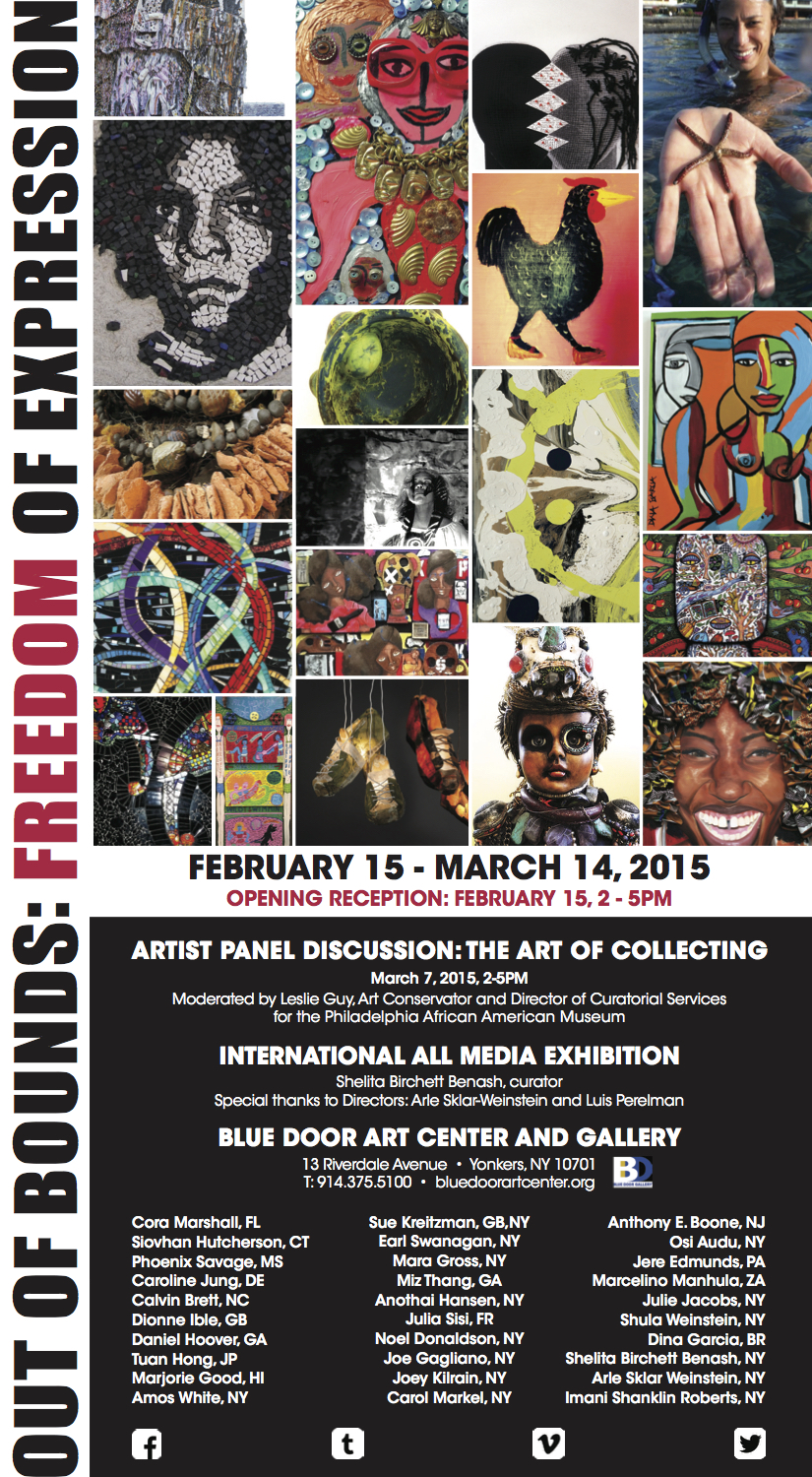 OUT OF BOUNDS: FREEDOM OF EXPRESSION, ALL MEDIA INTERNATIONAL EXHIBITION CURATED BY SHELITA BIRCHETT BENASH, 2015