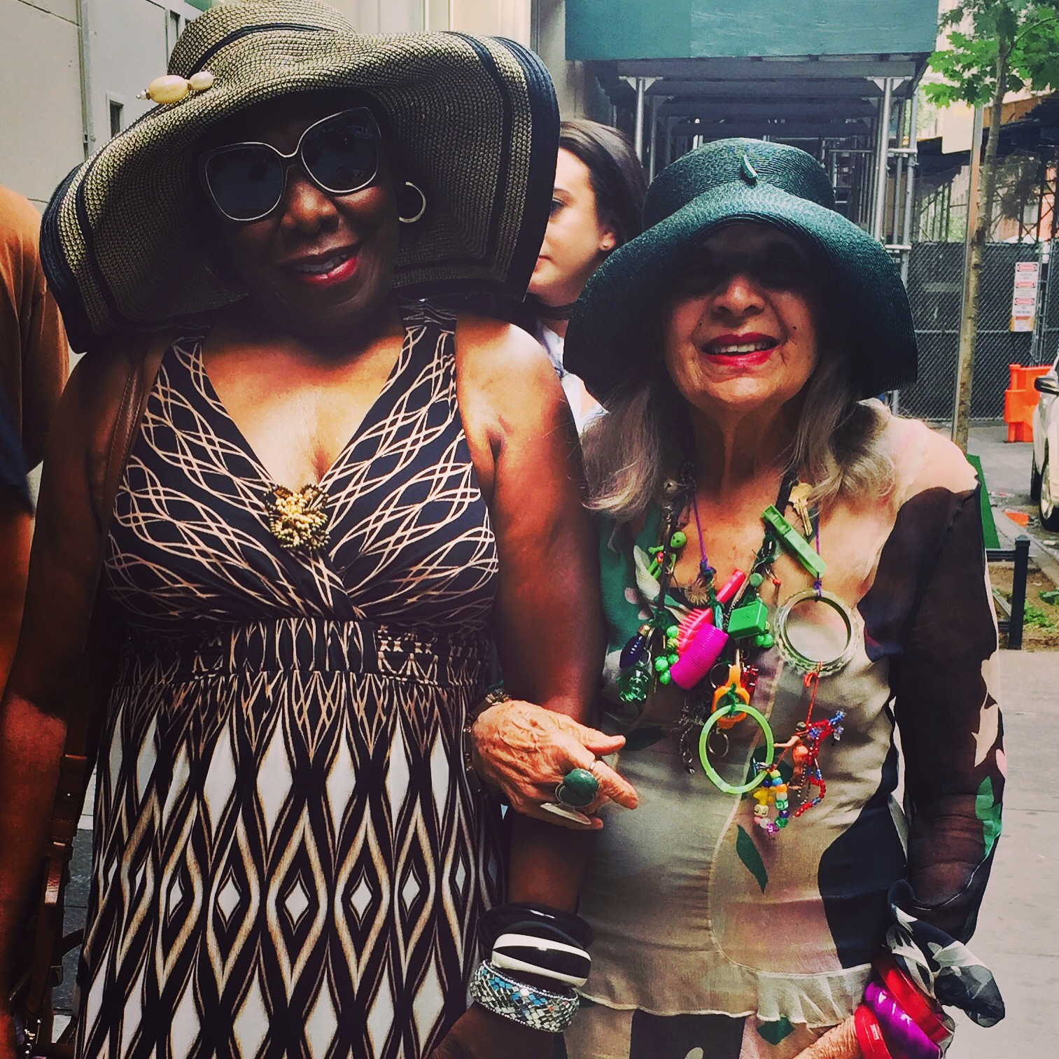 Mother, Ruth Birchett with artist, Malcah Zeldis at the documentary screening  Fabulous Fashionistas,  hosted by Sue Kreitzman at Senior Planet in NYC.