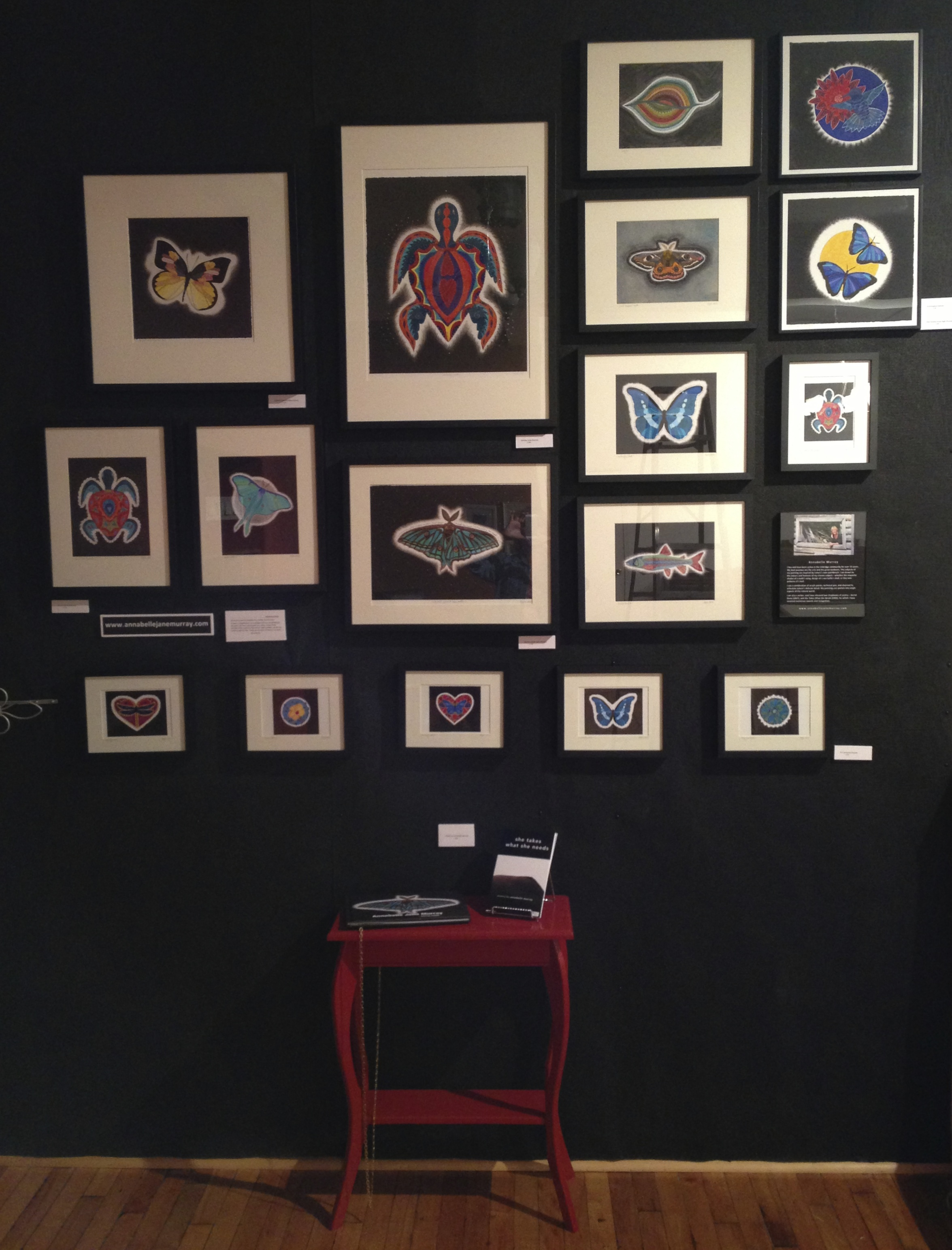 My fine art prints displayed at Blue Heron Studio Gallery, Uxbridge, ON until mid-December 2013.