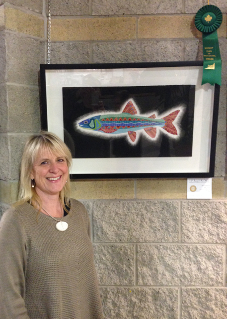 Dream Trout wins Pickering Rotary Award at the 2014 PineRidges Juried Art Show.