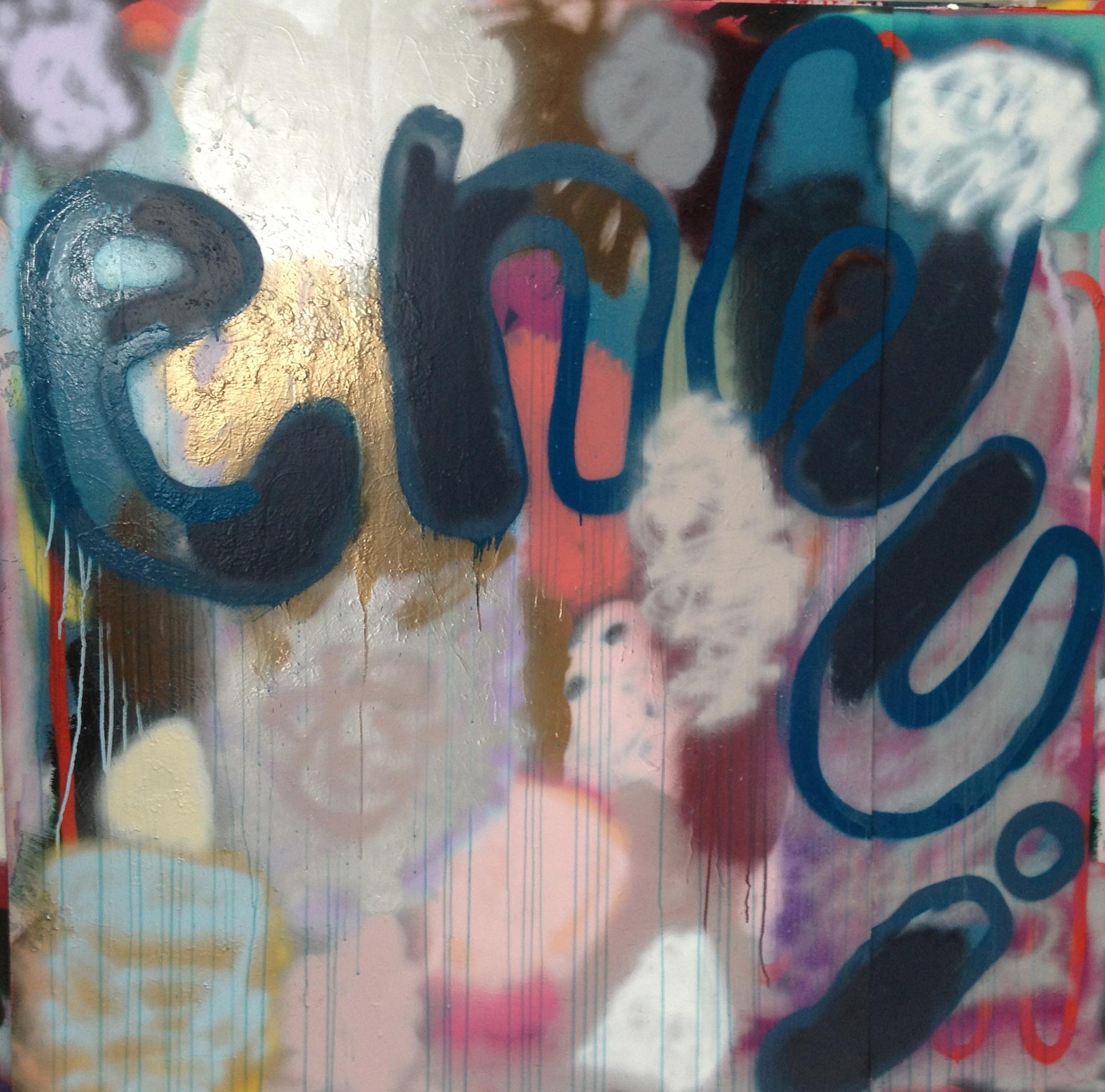 """Ennui, 62"""" x 61"""", Acrylic on Board"""