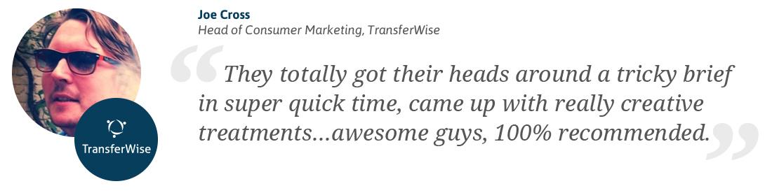 Transferwise Testimonial