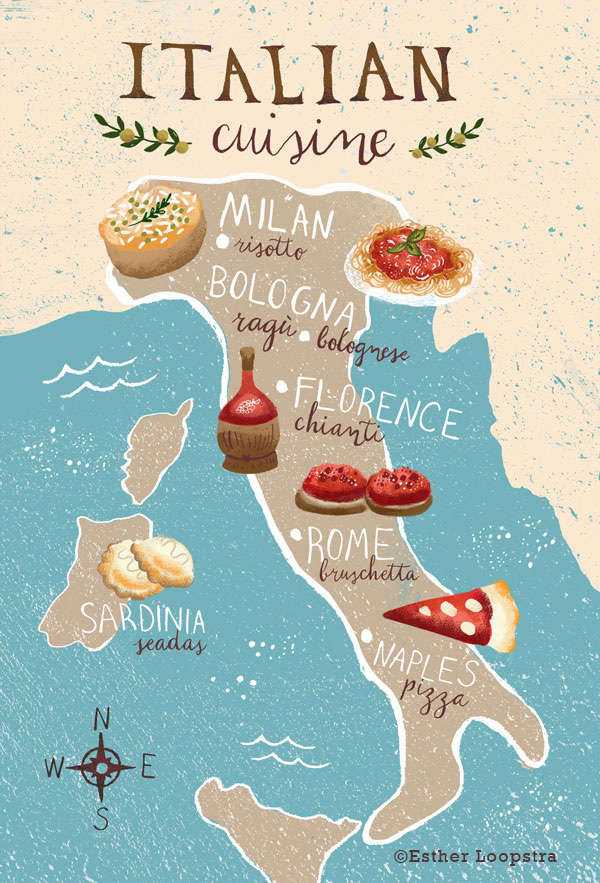 Italian Food Map By Region Esther Loopstra
