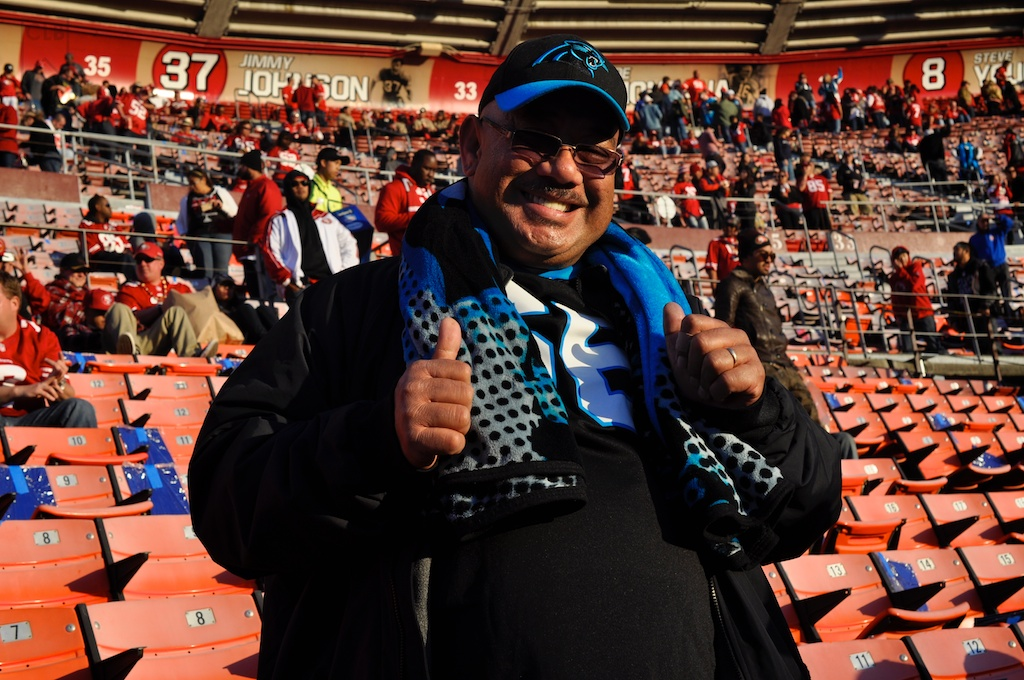 So, apparently because Amini Silatolu never gets a chance to play on the west coast, his family (from hawaii) figured the best chance they would get to see him was in this particular game. And they were some nice, kind.. and proud people. As they should.