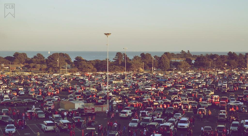 Candlestick parking lot.