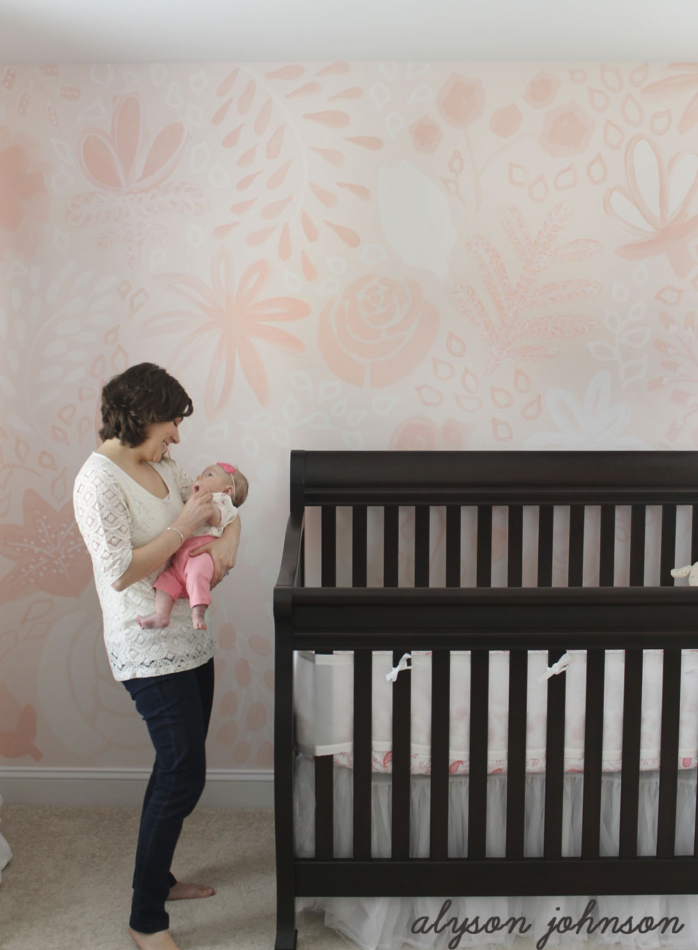 Baby's Floral Mural