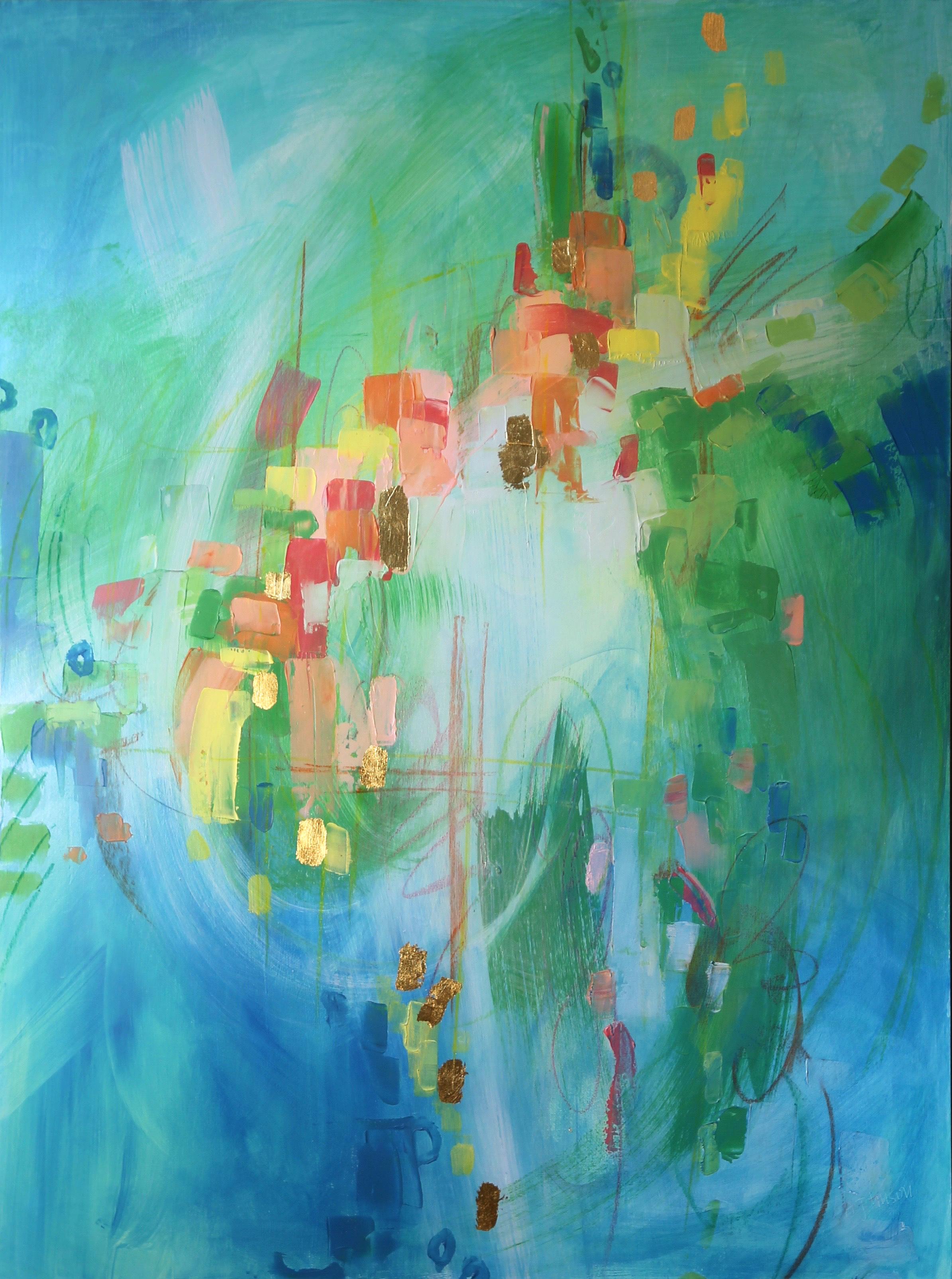 Big Green Abstract