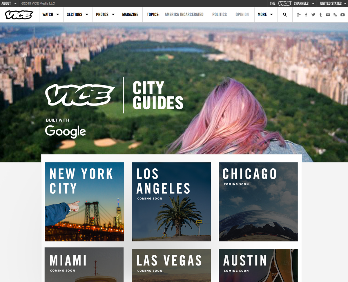 Homepage Hub featuring cities being launched.  View live page here.