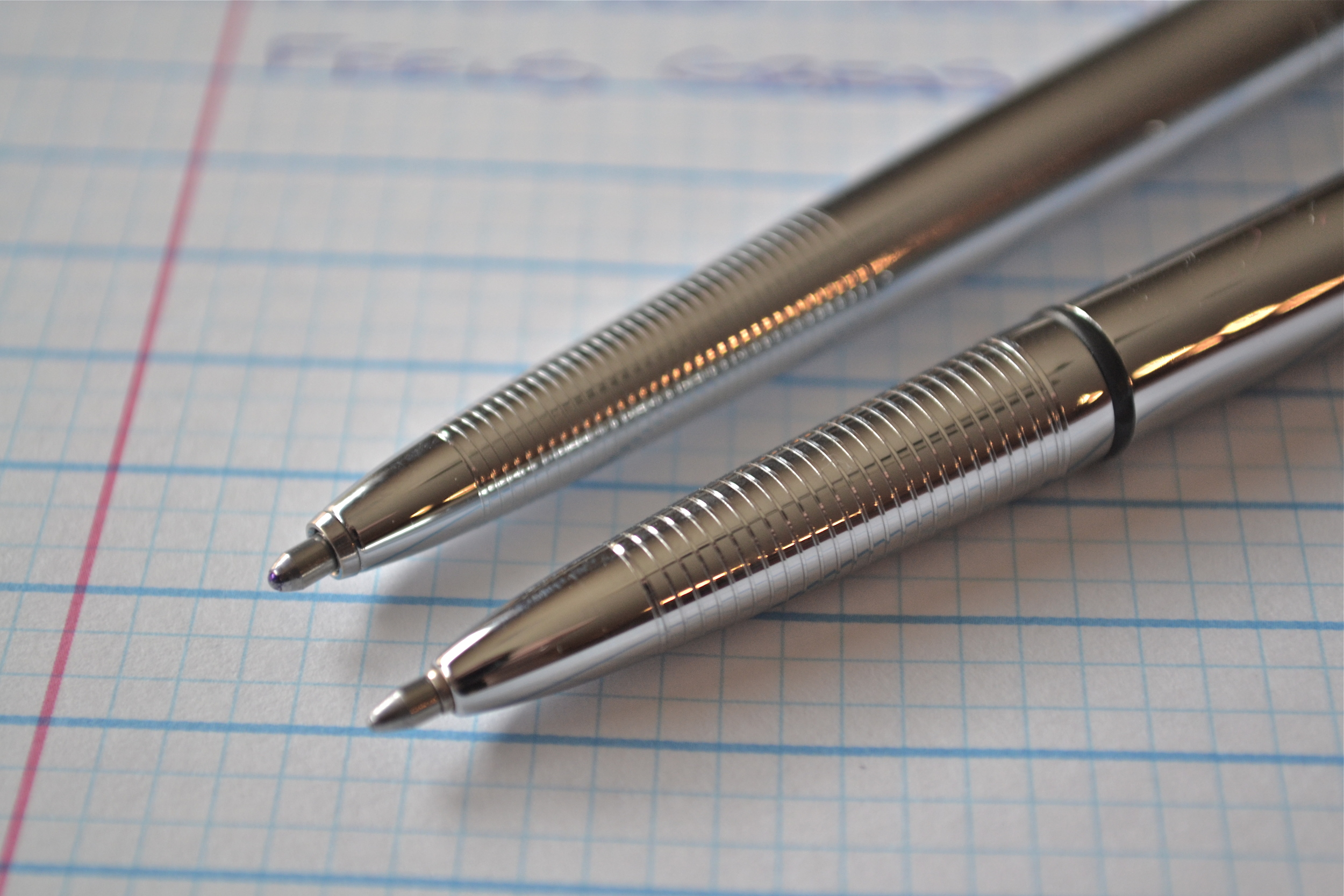 AG7, Left - Bullet Pen, Right
