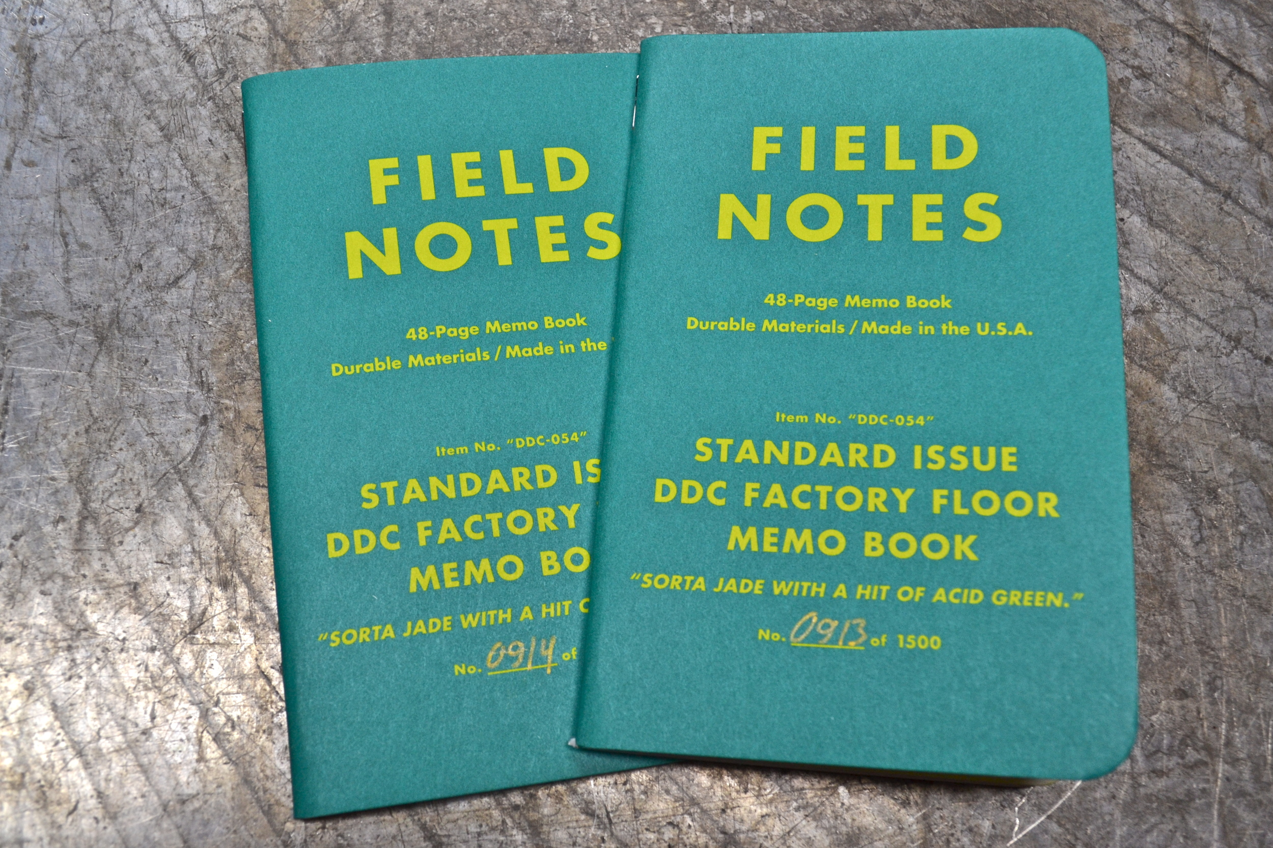 This is a giveaway of the DDC factory floor field notes