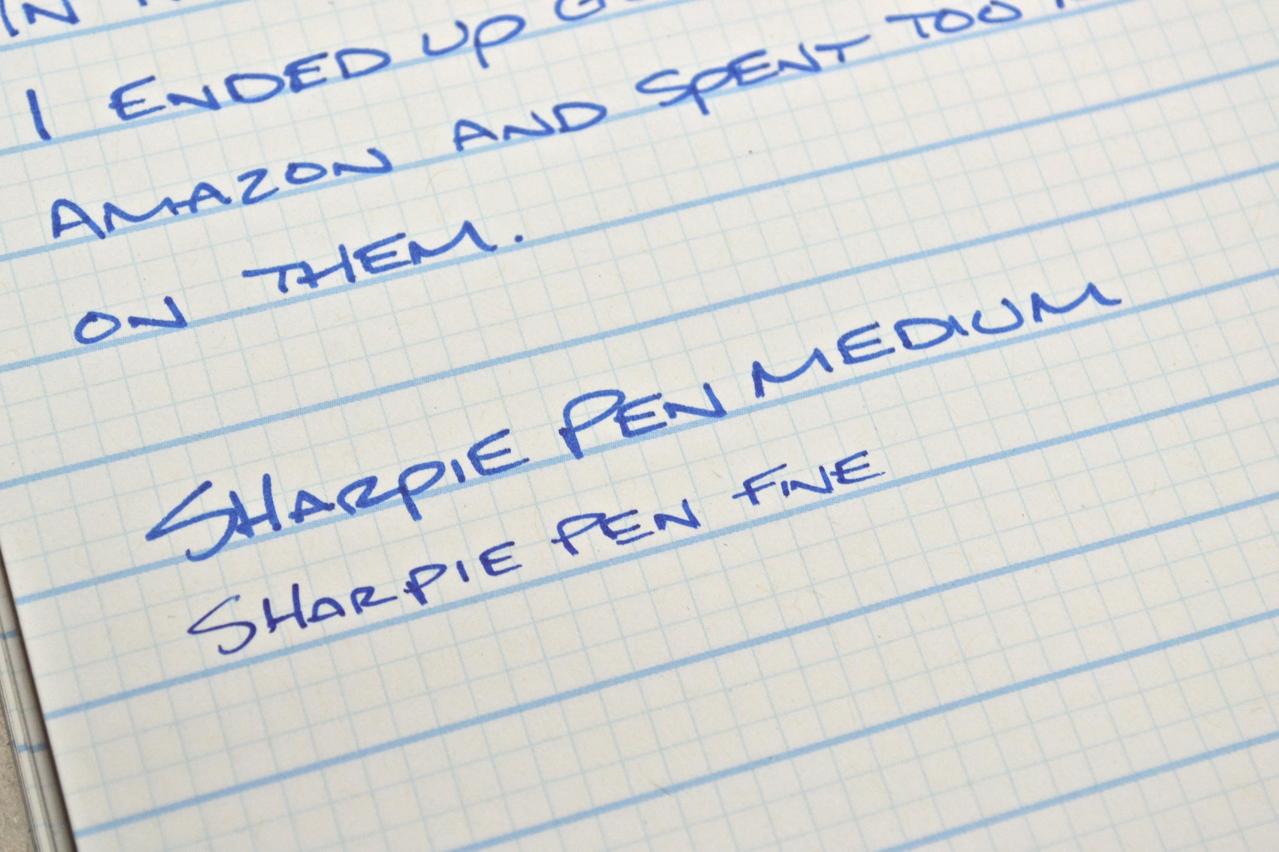 Sharpie Pen Retractable Review On Doane Paper