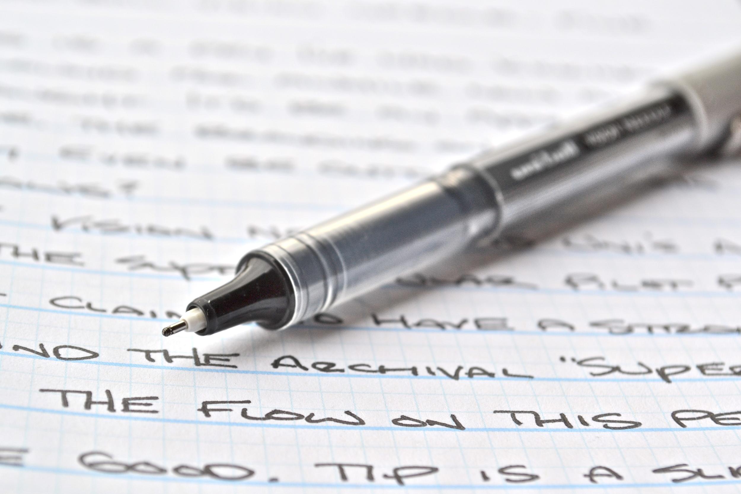Uni-ball Vision Needle Pen Review