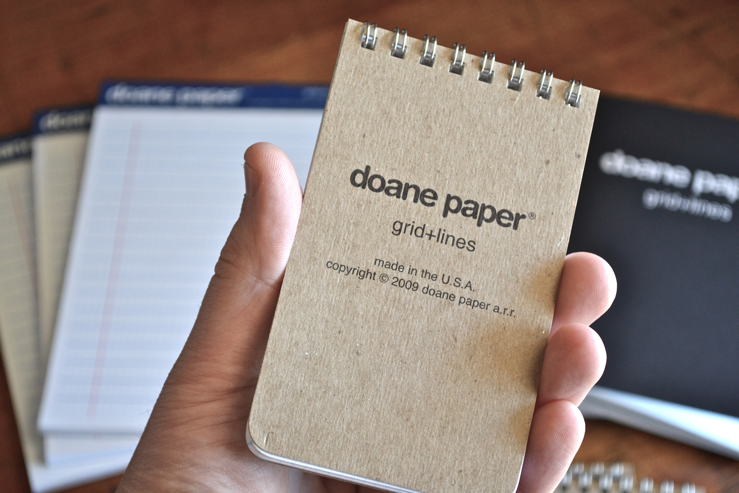 Small Flap Jotter in hand, perfect for small notes/lists.