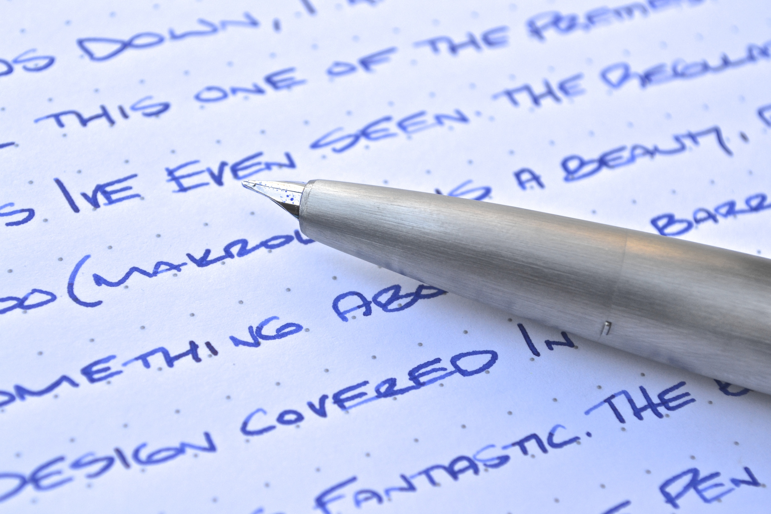 Stainless Steel Lamy 2000 Fountain Pen Review
