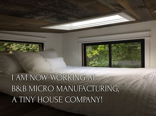 I'm thrilled to share that I have accepted a new position at @bbmicromanufacturing, a tiny house company in the beautiful Berkshire Mountains of Massachusetts! I will be wearing many different proverbial hats, including working with planning and zoning committees to set up villages of tiny houses on wheels and small houses on foundations.  If you would like to speak with me about anything Tiny House related, I'd love to hear from you!  I've been obsessed with tiny houses for over a decade, and have been working on starting up a cohousing village in CT/MA that includes tiny houses called River Valley Cohousing Village (join the group on Facebook!), so taking this next step professionally made perfect sense.  As you can see in these photos (this house was just at @tinyhousefestvt), the houses built by B&B are tasteful and well-made, and, if you know me, you know I wouldn't accept anything less in a company I'm working for. :) Please continue to follow @katiejacksonwoodworks as I'll still be posting custom furniture and simple woodworking project instructions!  #katiejacksonwoodworks#tinyhouse #legalizetinyliving #thow #bbmicro #nama #mynorthadams #berkshires #northadams #tinyhouses #tinyhousevillage #womenwoodworkers #tinyhouseliving #ilovetheberkshires #tinyhouselove #tinyhousefestvermont #tinyhousefest #tinyhousefestival