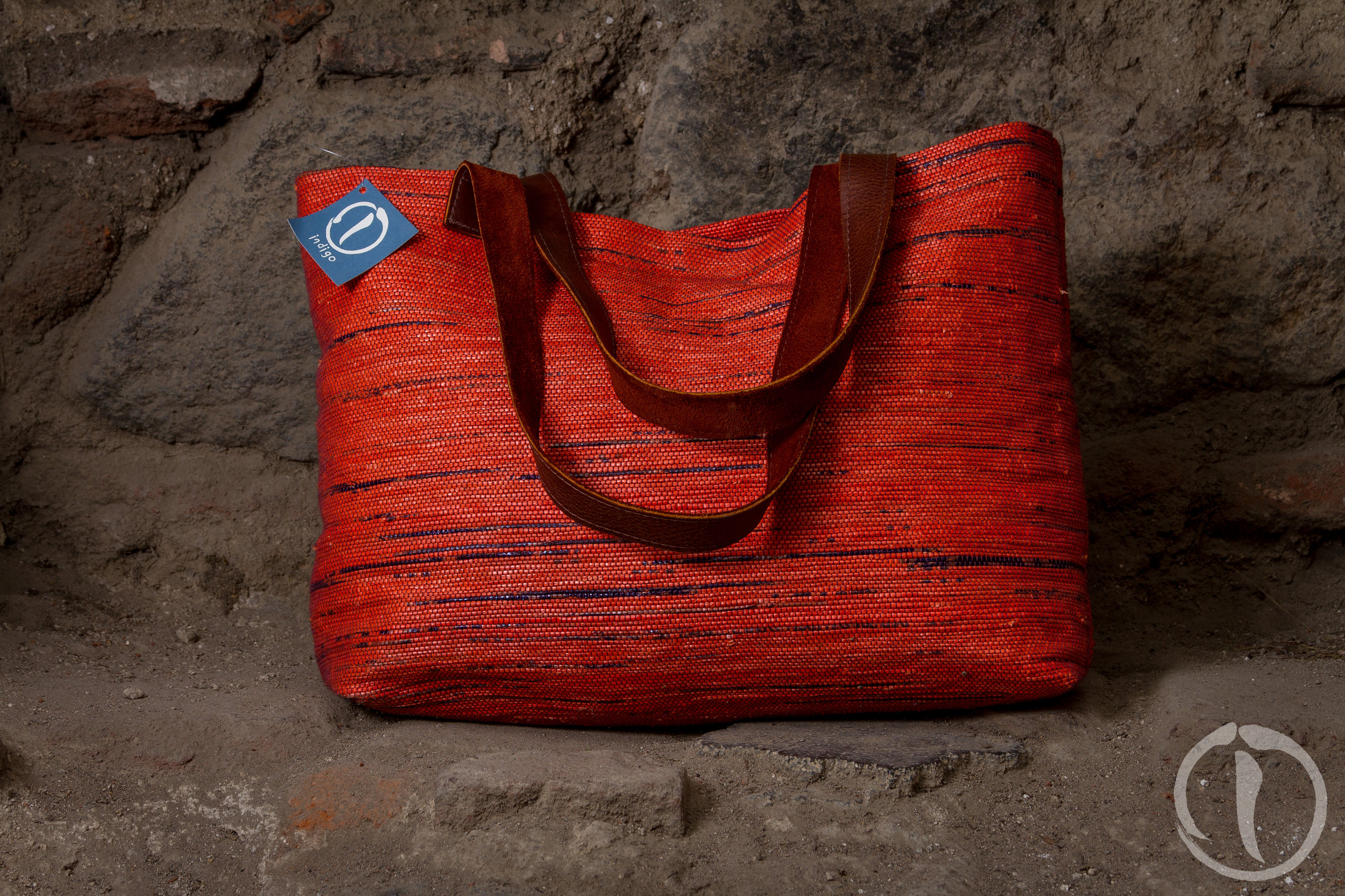 Recycled Plastic Tote leather strap.jpg