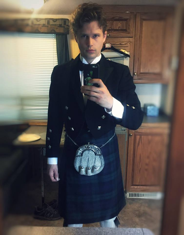 - KERRY JAMES - Och aye, Kerry James is looking dashing on the set of THE PERFECT BRIDE (Hallmark) in the Supporting Lead role of