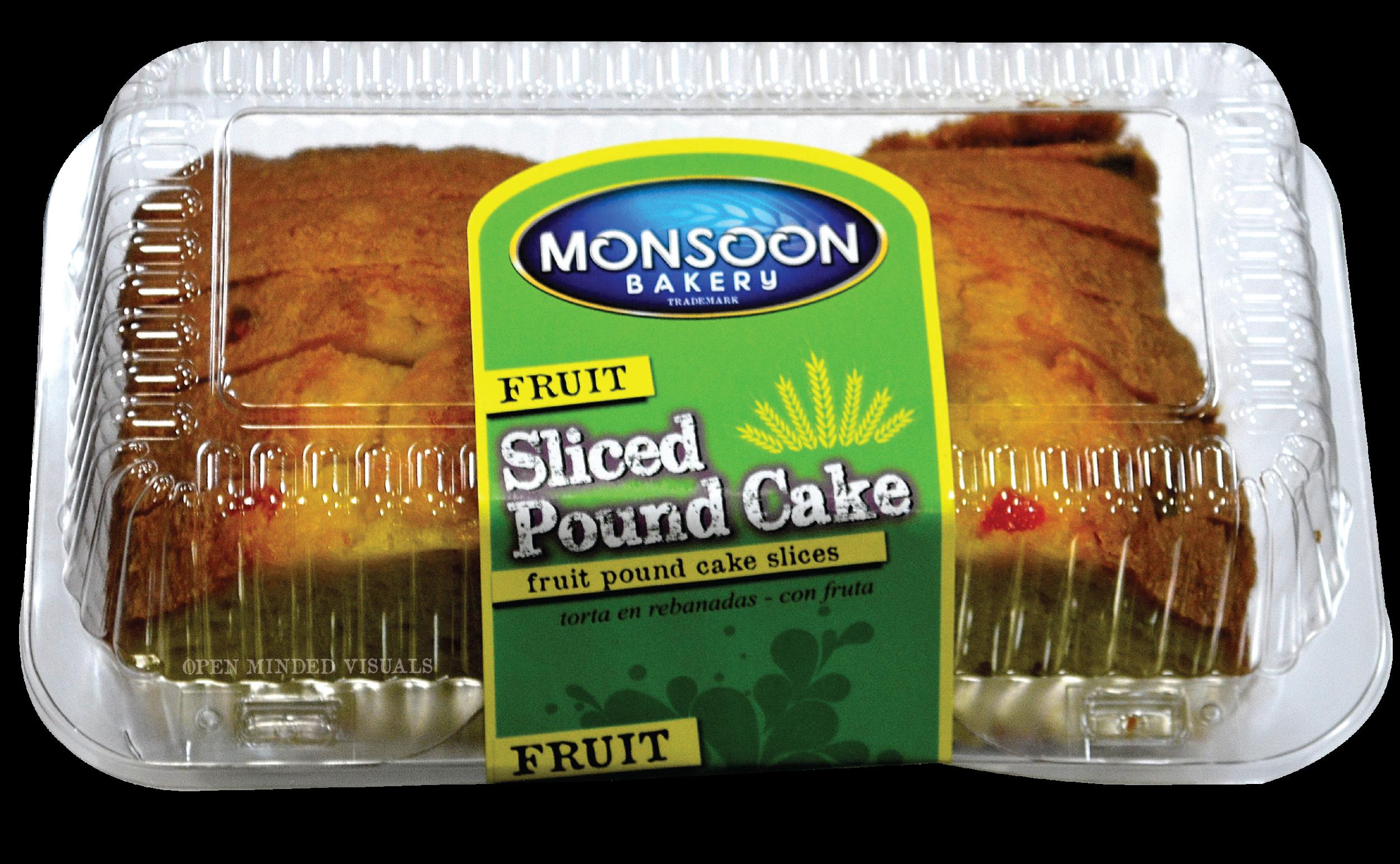 Sliced Fruit Pound Cake