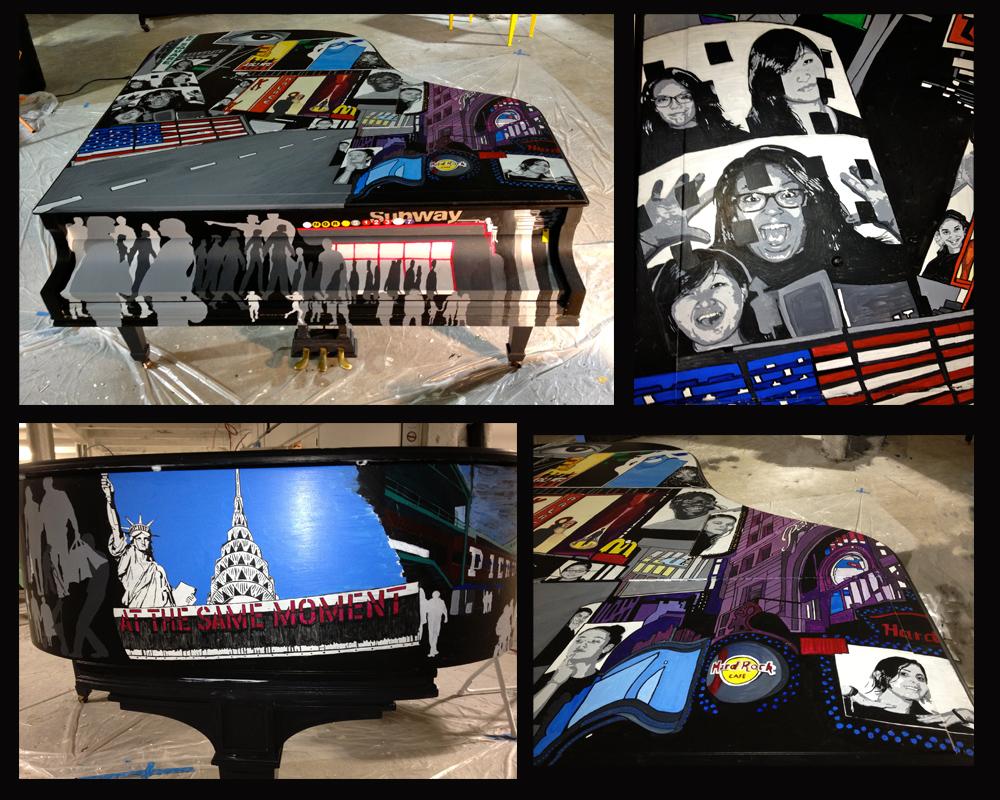 Super Bowl 2014 Piano - Composite Images