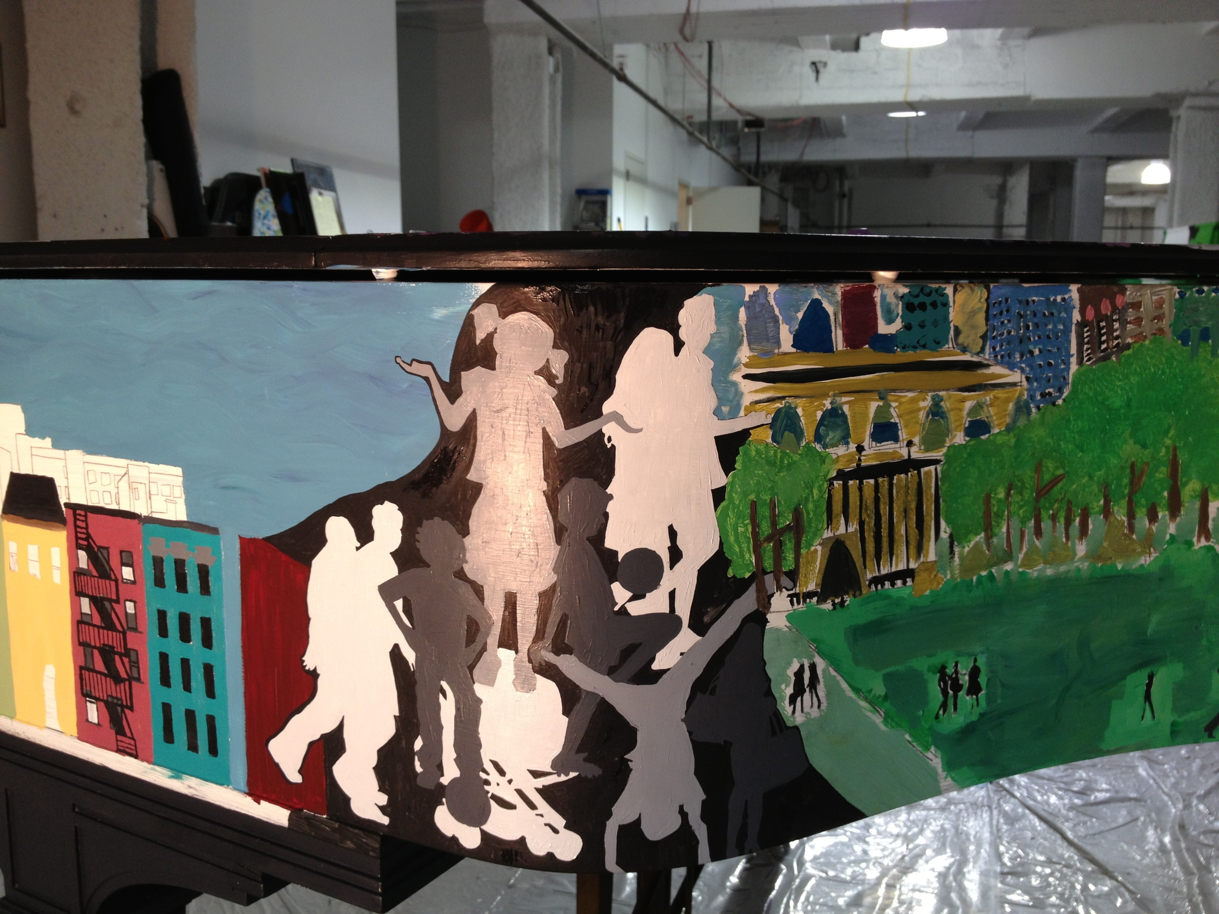 Student work and Silhouettes in Progress