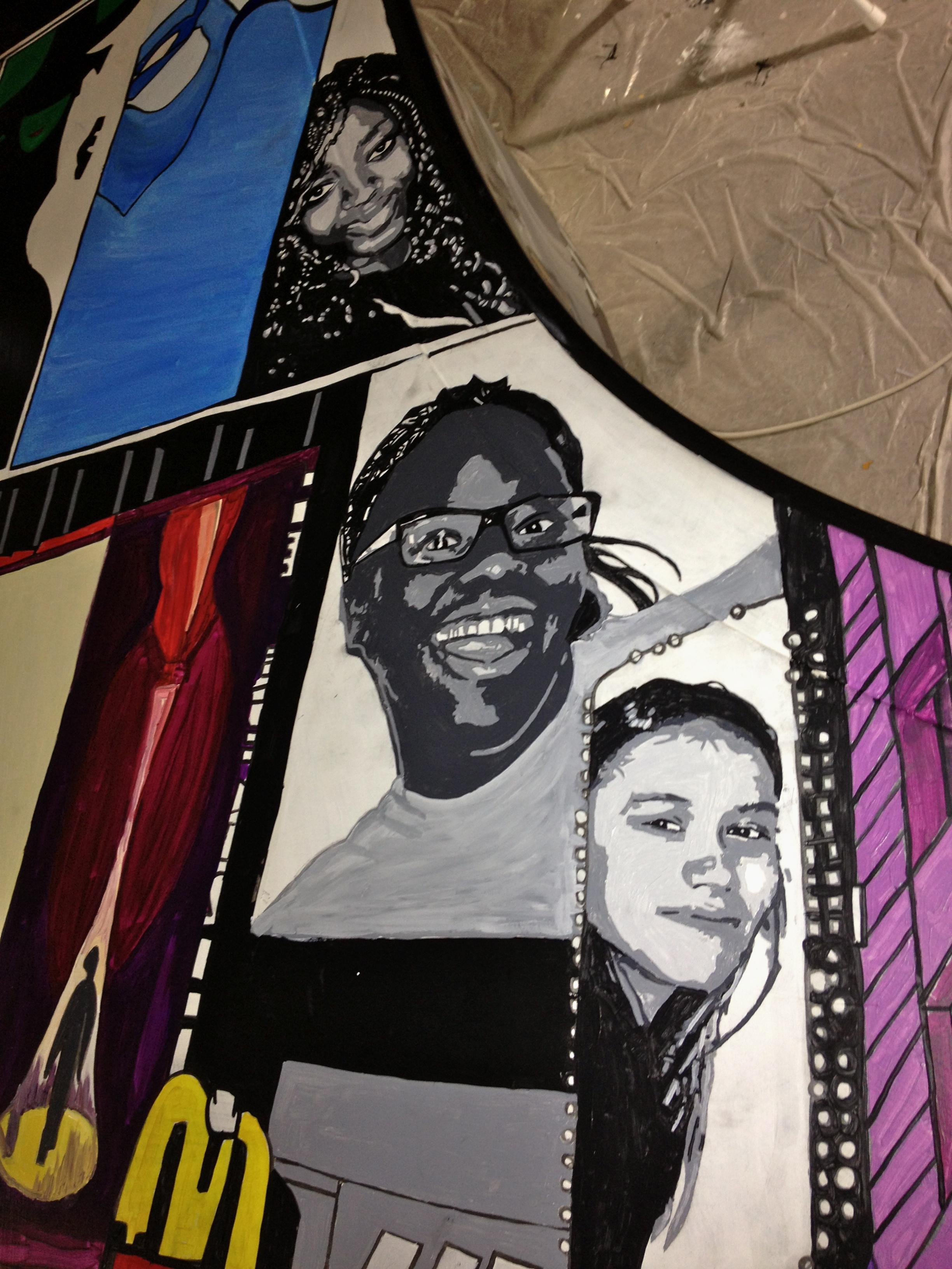 Piano top - Portraits in progress