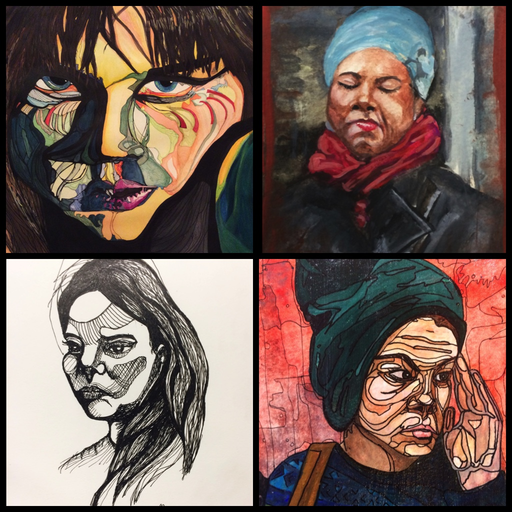 Faces - Road Map of the Face Series & Subway Faces (sketches and paintings)