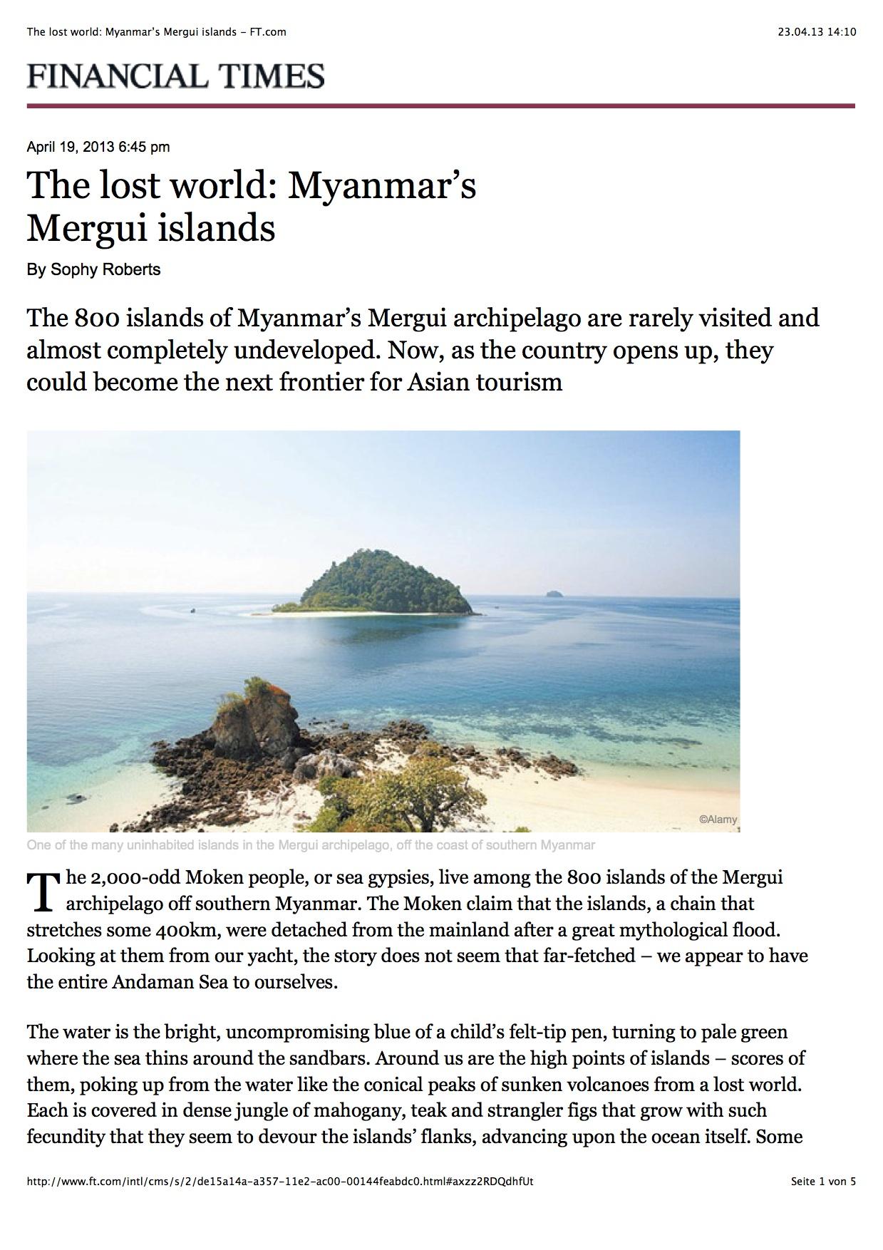 Myanmar's Moken people in the Mergui island world