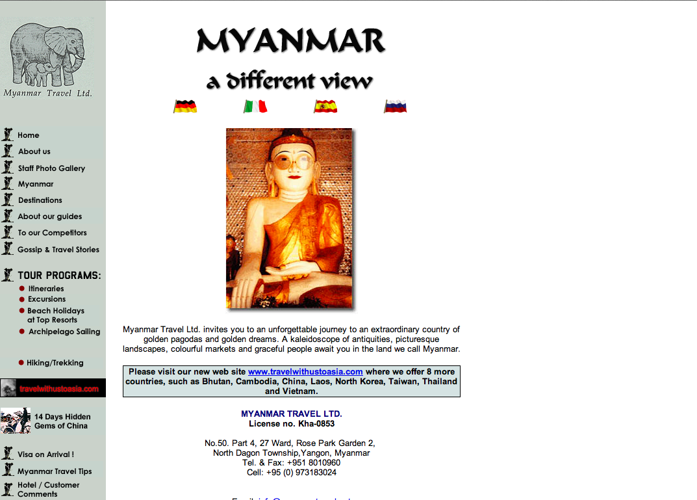 Myanmar Travel Agency Burma