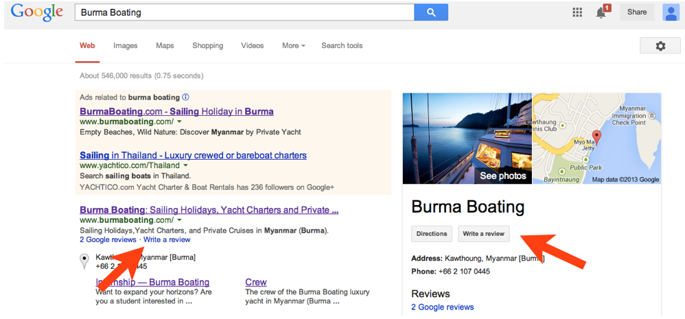 How to review yacht charters by Burma Boating