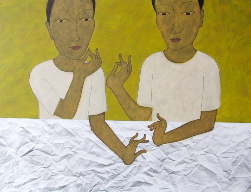 Ordinary People 1, by Myanmar artist Min Zaw (courtesy of Yone Arts)