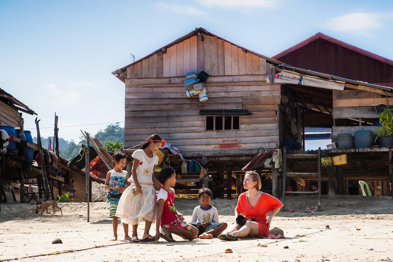 Moken village photo