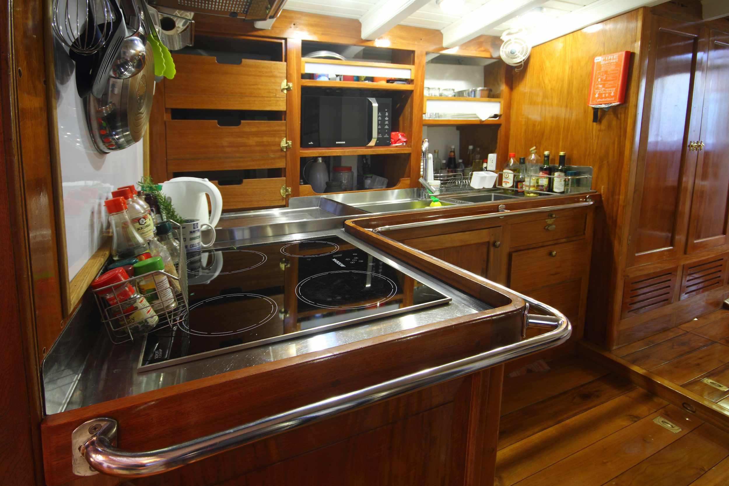 Aventure's sizable kitchen