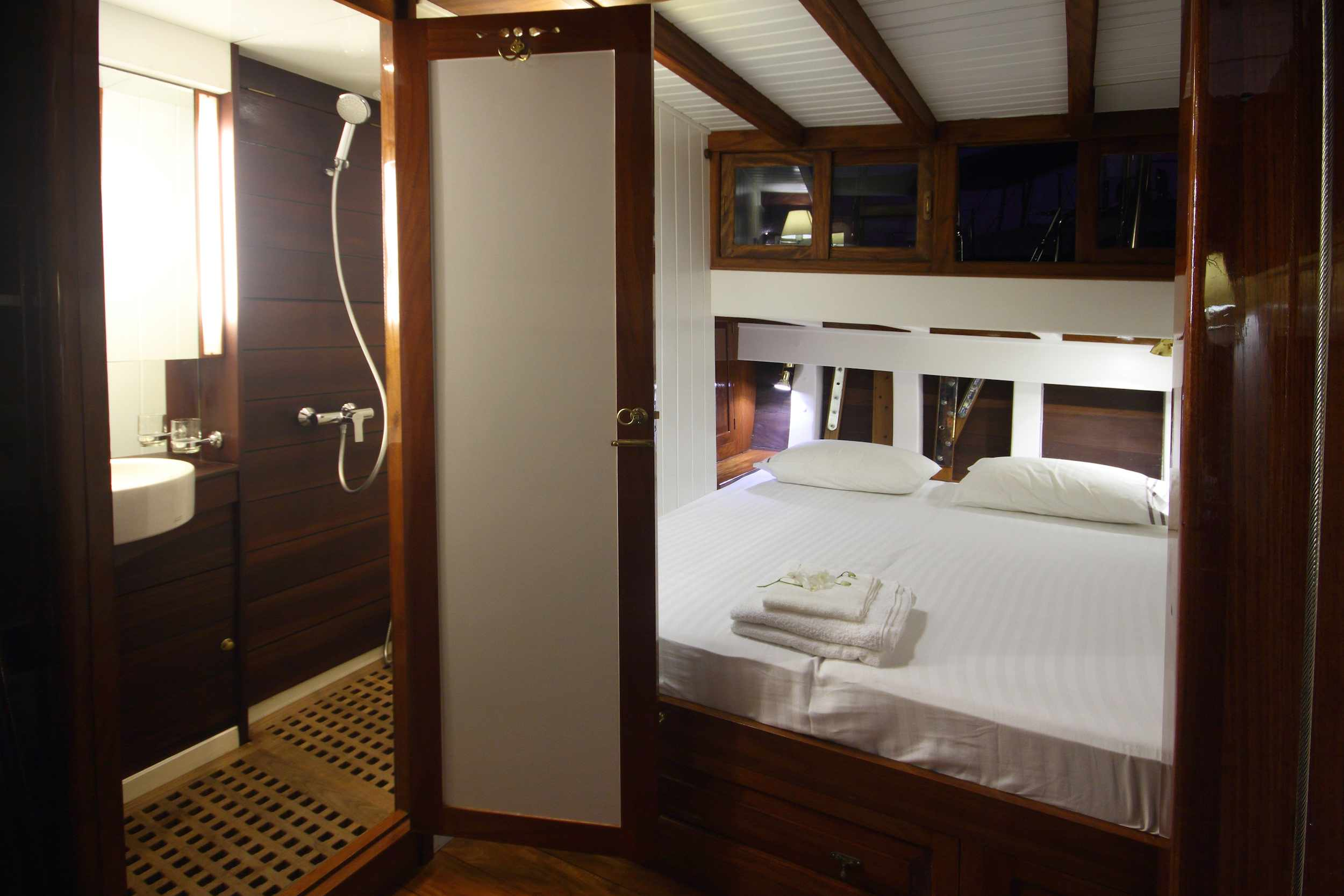All cabins on Aventure come with ensuite bathrooms