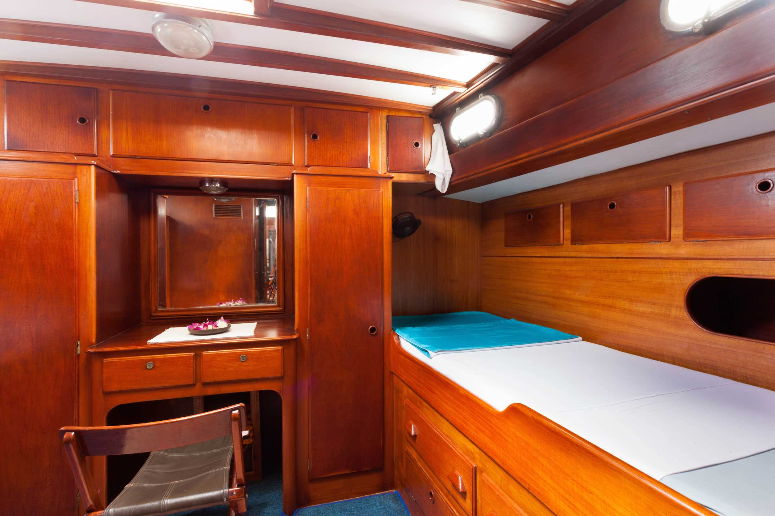 Aft cabin portside sailing yacht Scame Myanmar.jpg