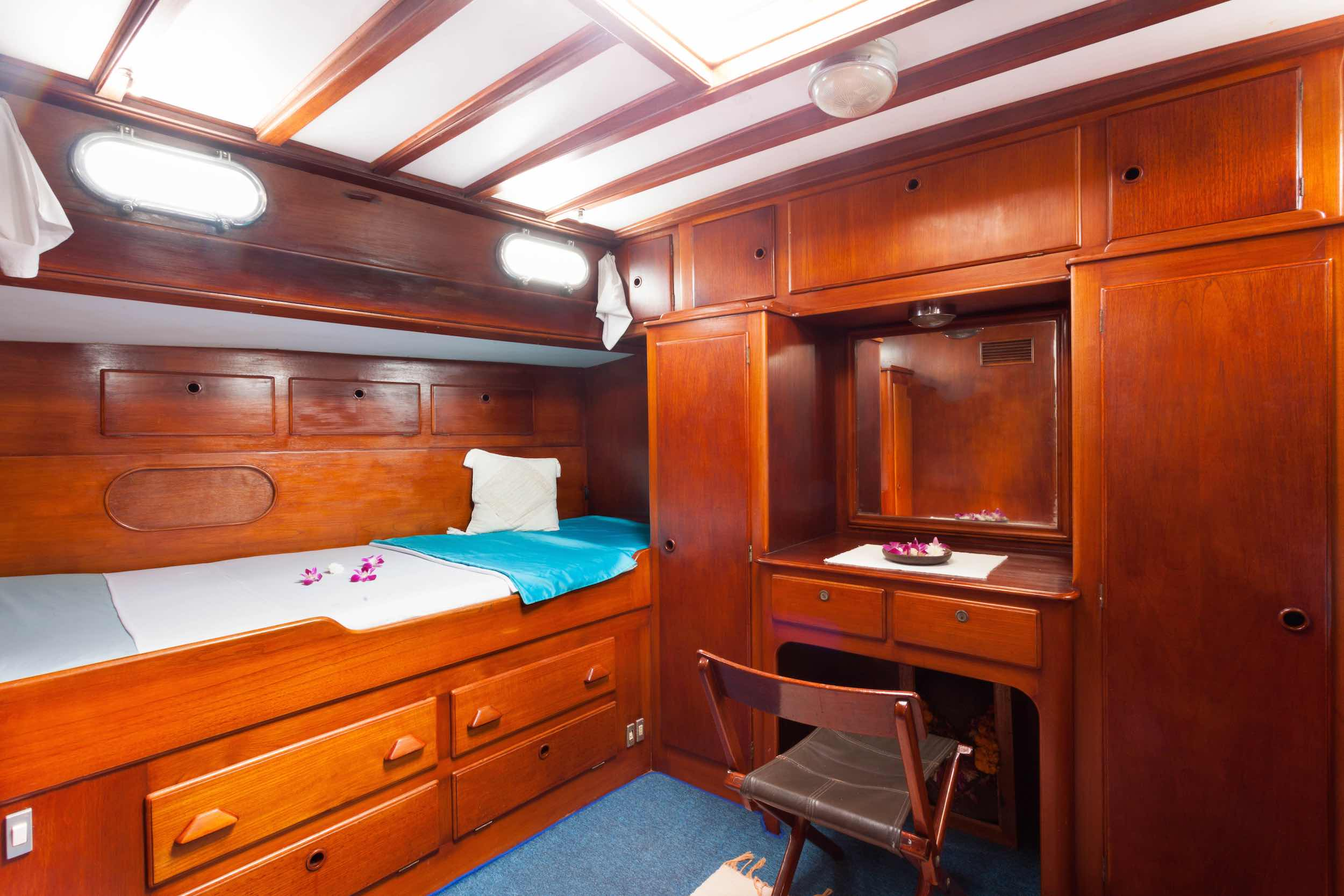 Aft cabin starboard side sailing yacht Scame Myanmar.jpg