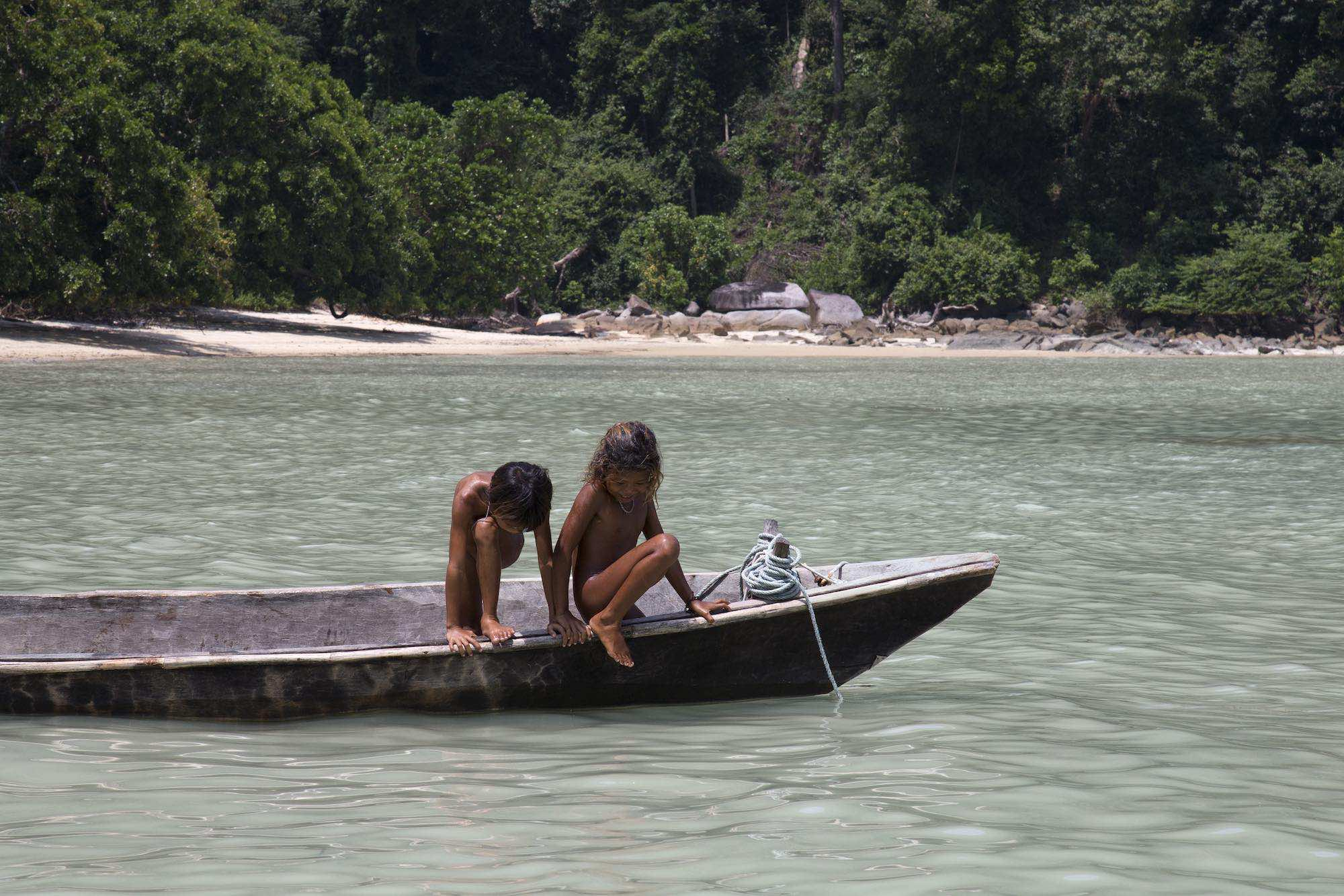 49.Memm and her friend on a dug-out in the shallows of the Andaman Sea.jpeg