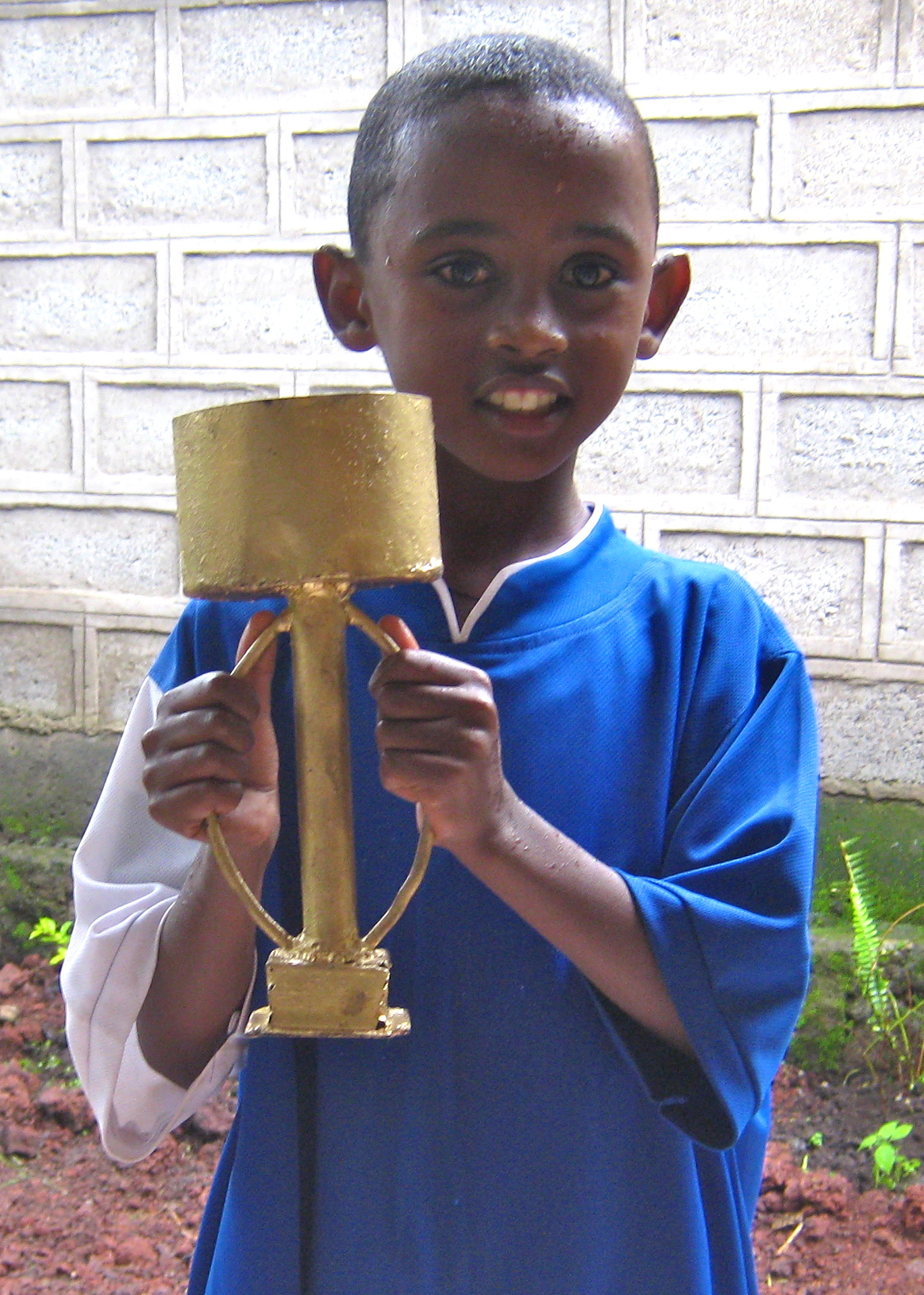 'Little Torres' with the cup