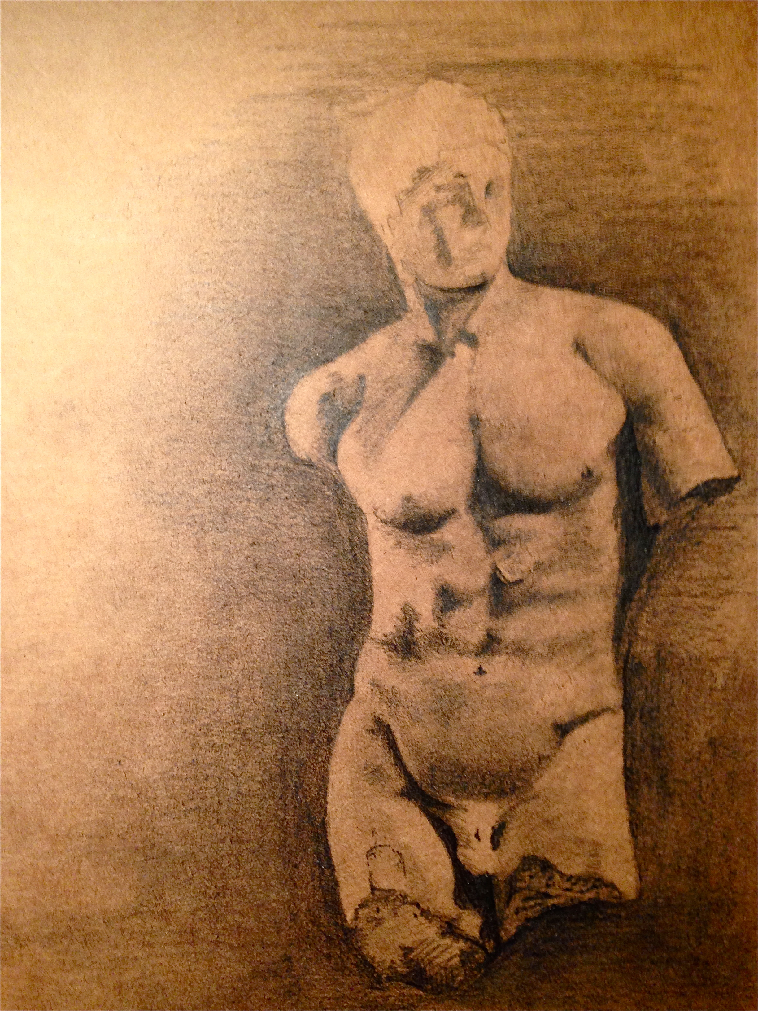 Sketch of an original Greek sculpture