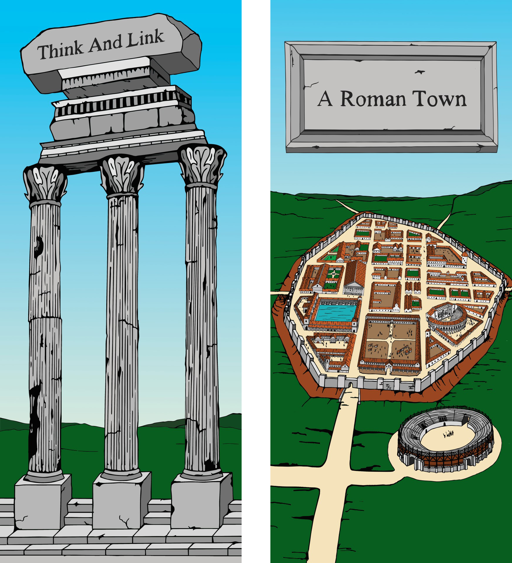 Freshwater Romans Show - Graphics for set design