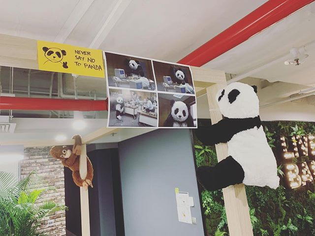 Never say no to panda. . . . . #neversaynotopanda #dbsuxd #kennethsketches #dayinthelife #postitnotes #sketch #designer #designerlife #office #fun #ux #uxdesign #makingworkfunagain #givingback