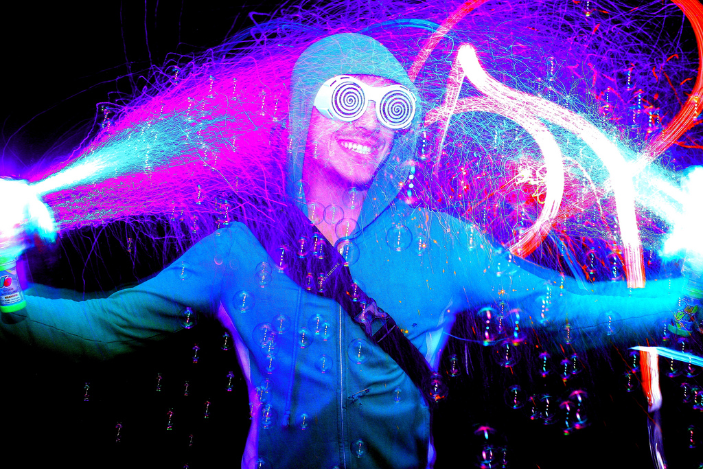 Ultra Music Festival Light Painting Photo Booth
