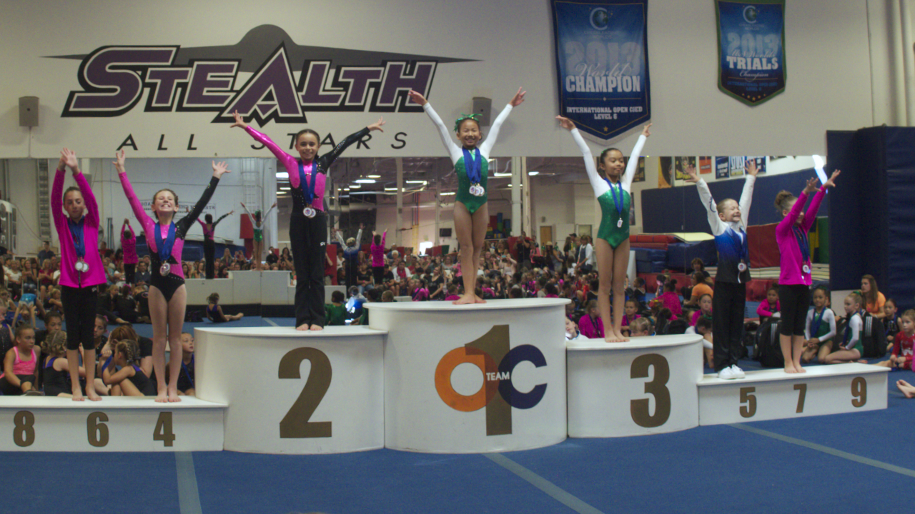 My sister Jia placed Gold on Floor and Vault, Bronze on bars, 4th on beam and 1st place all-round!!!